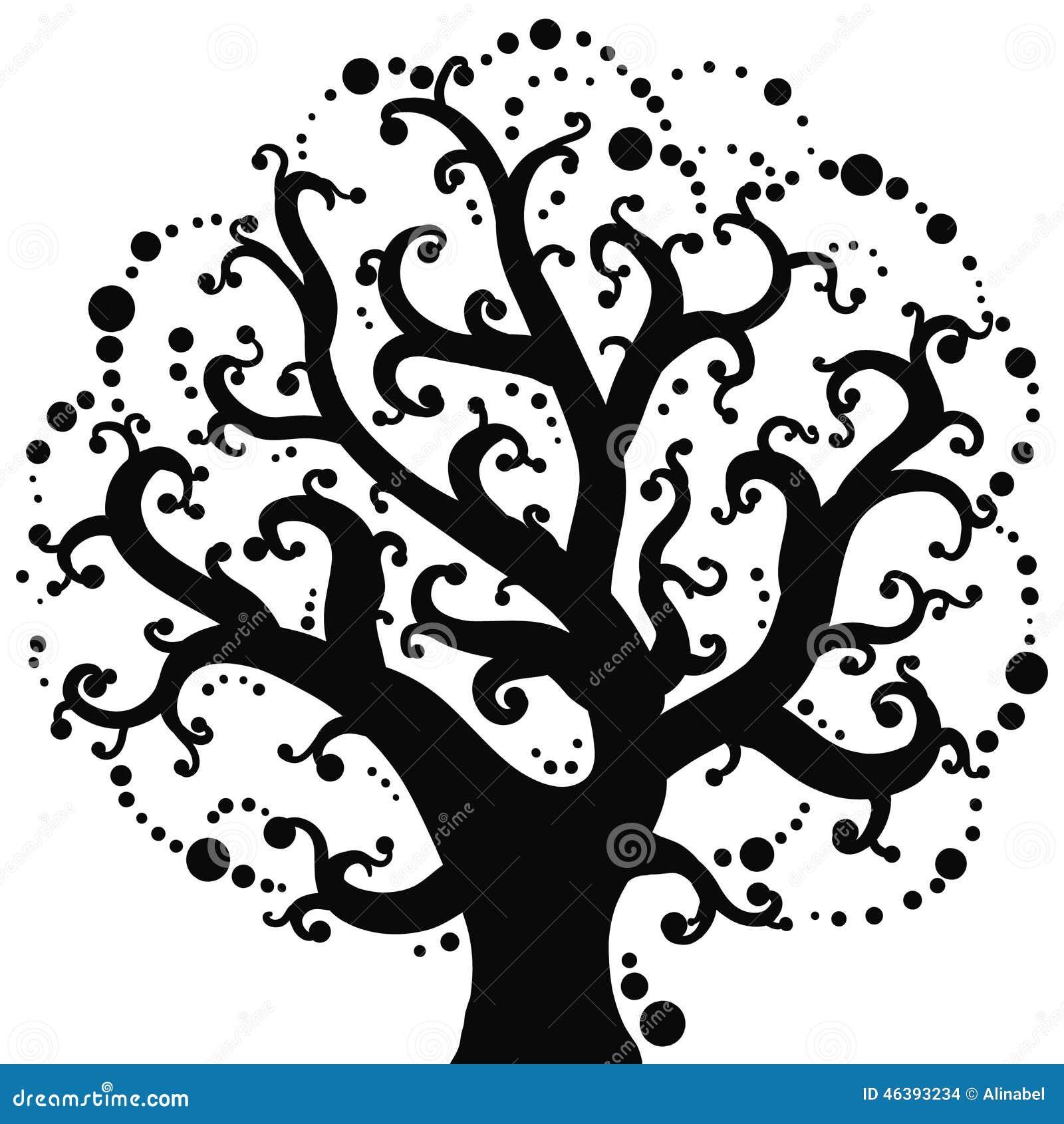 Dessin de vecteur de l 39 arbre illustration de vecteur illustration 46393234 - Arbre de l avocat ...