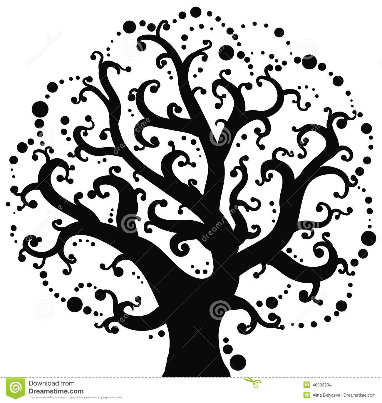 Dessin De Vecteur De L'arbre Illustration de Vecteur ...