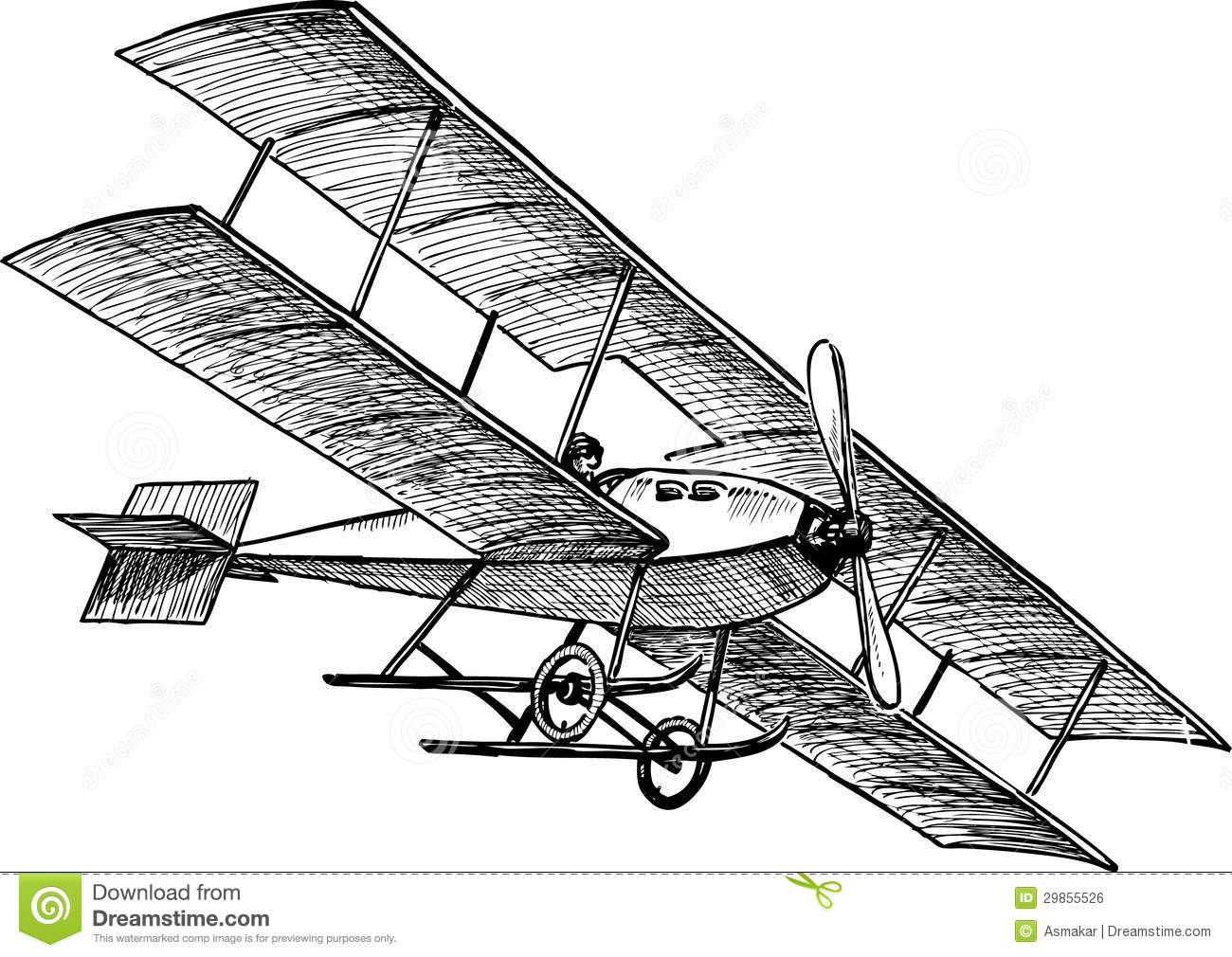 Avion antique image libre de droits image 29855526 - Dessins avions ...
