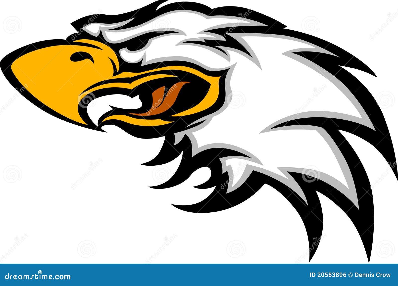 Dessin de vecteur de t te de mascotte d 39 aigle image libre - Dessin de aigle ...