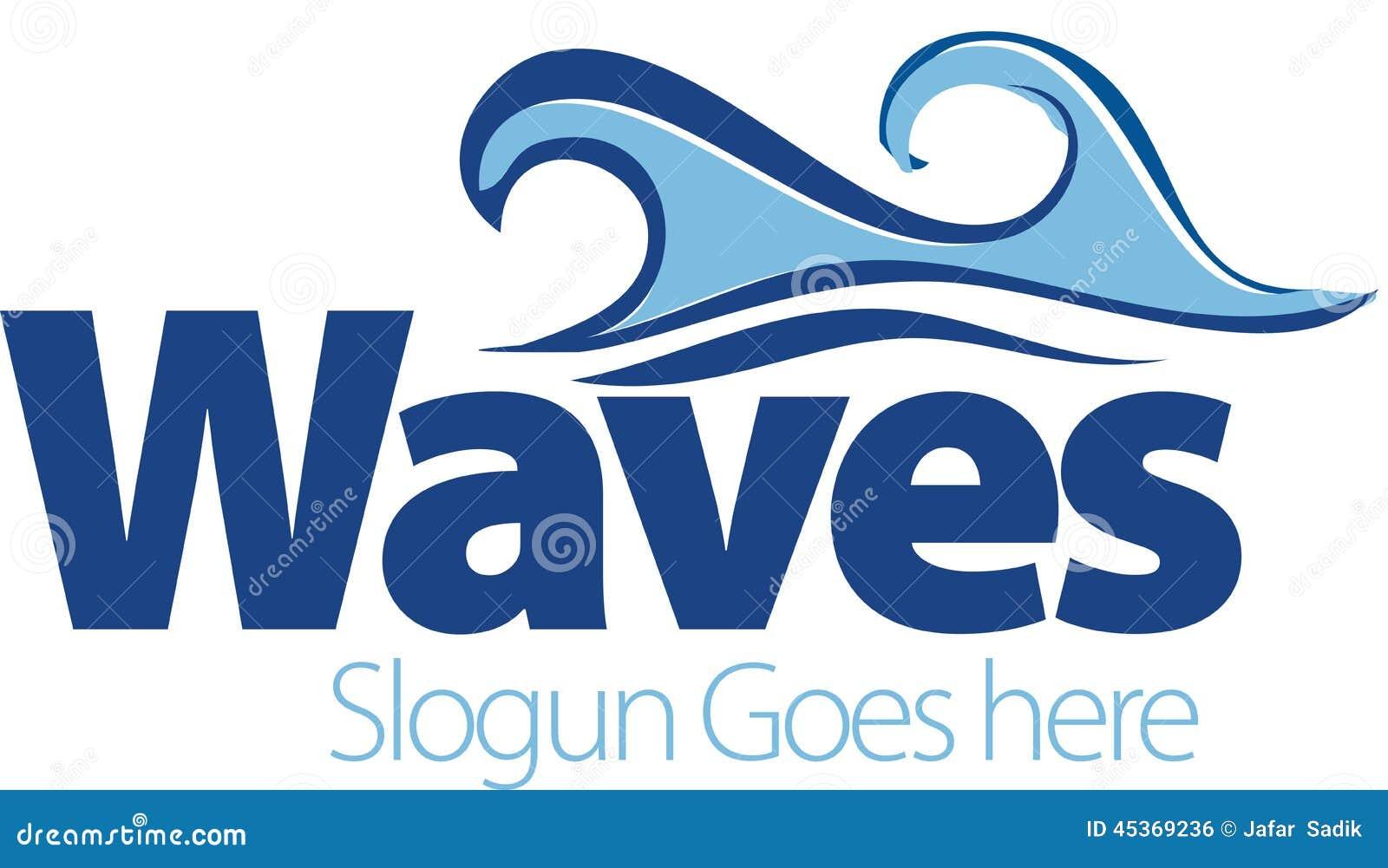 Dessin de vecteur des vagues de mer Symbole de vague Calibre de logo