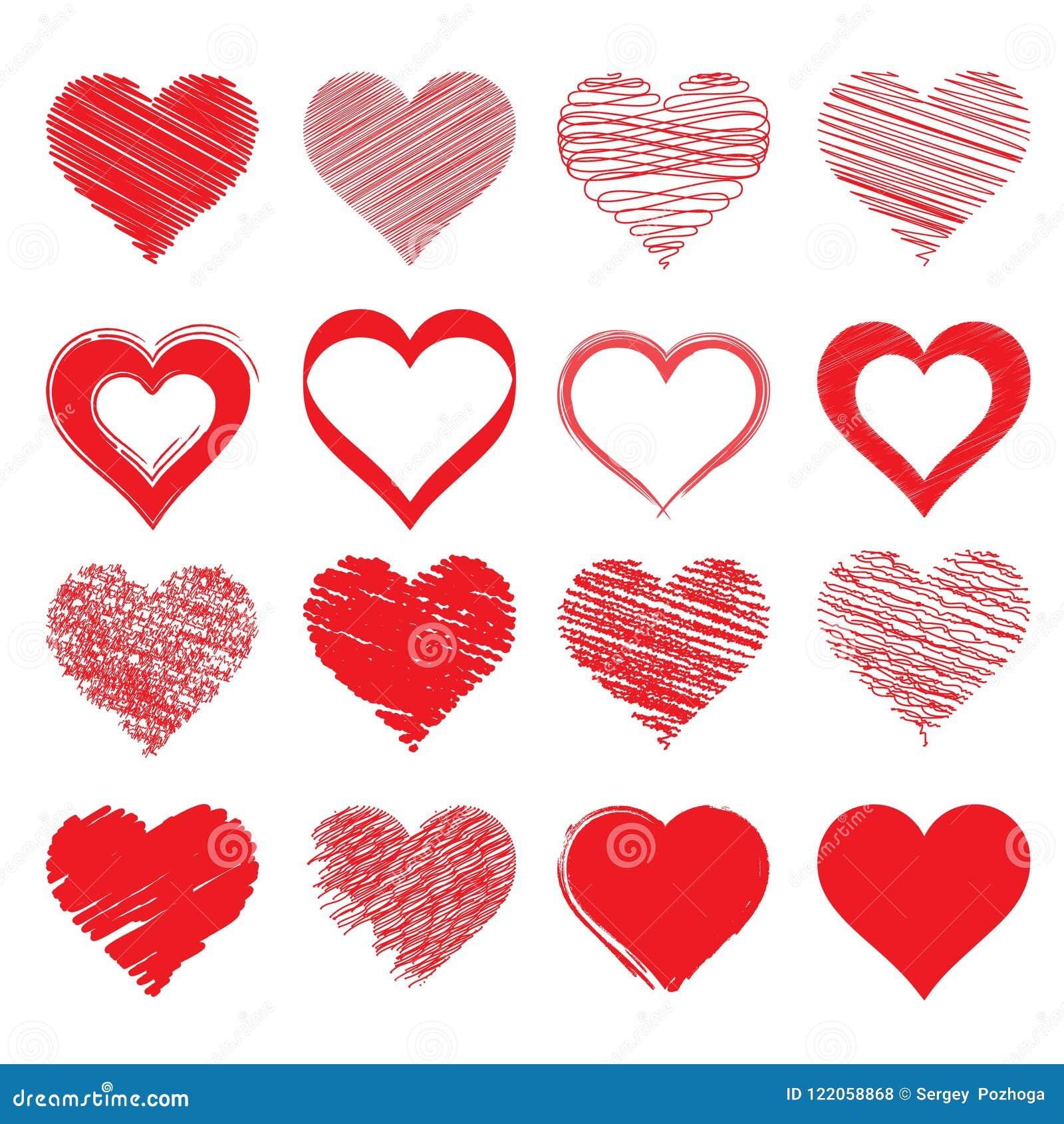Dessin De Vecteur Du Coeur Un Symbole De L Amour