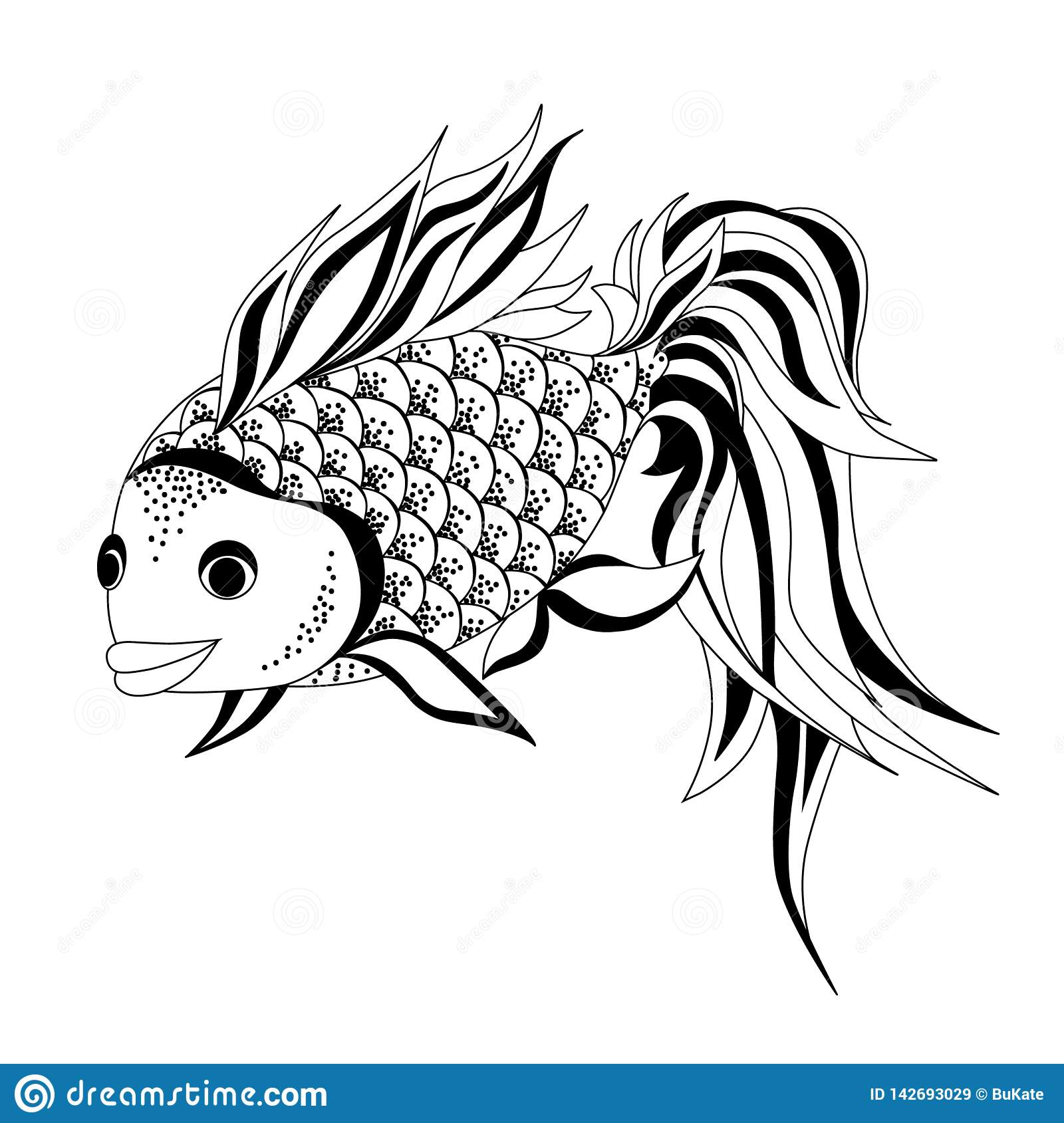 Dessin De Vecteur De Poisson Rouge Illustration De Vecteur Illustration Du Dessin Poisson 142693029