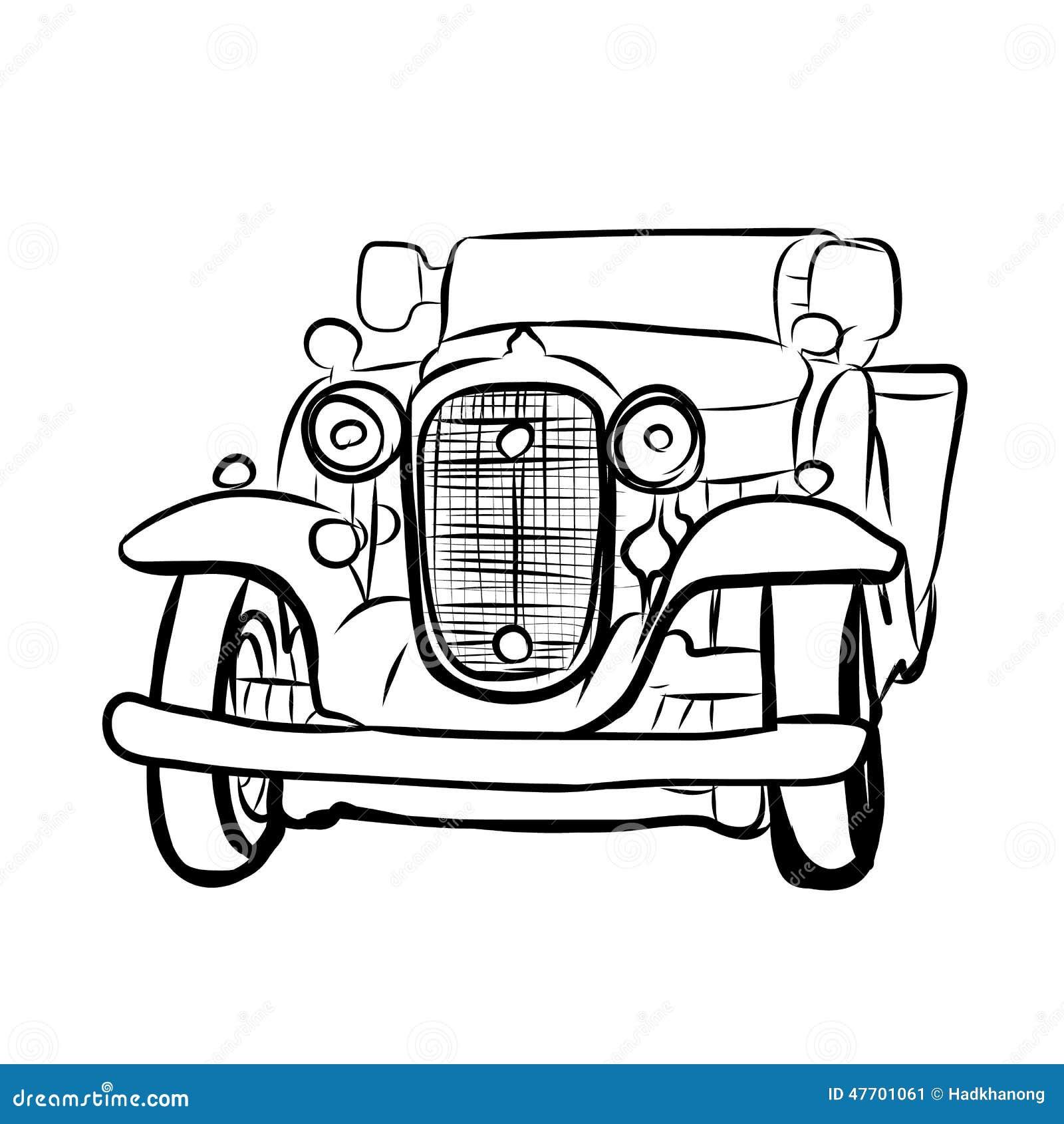 Dessin de vieille voiture de vintage illustration de vecteur illustration du vecteur blanc - Dessin vieille voiture ...