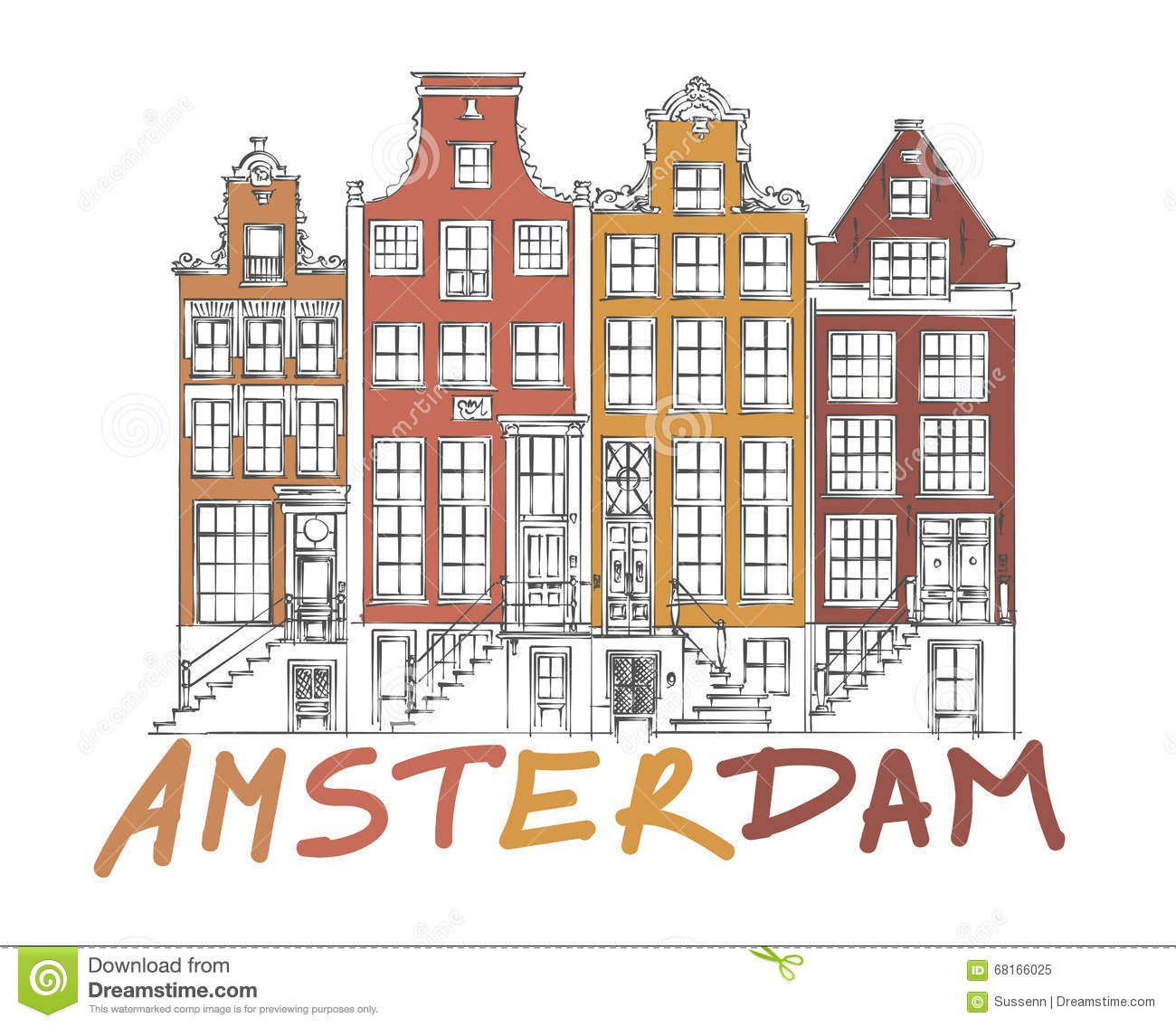 dessin de ville d39amsterdam illustration de vecteur With dessin plan de maison 3 dessin de ville damsterdam illustration de vecteur