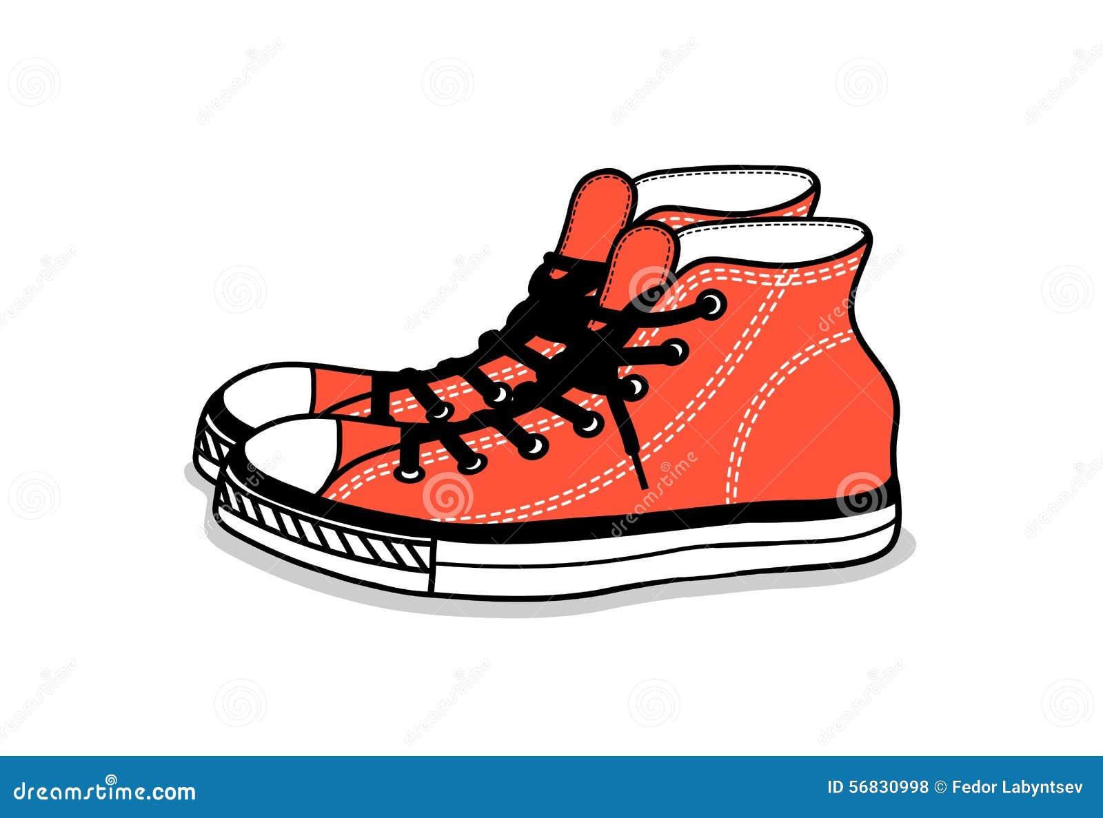 dessin des chaussures de sports chaussures faciles de la jeunesse