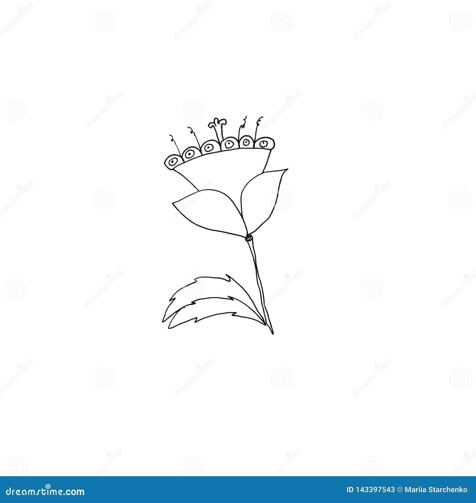 Dessin De Fleur Simple