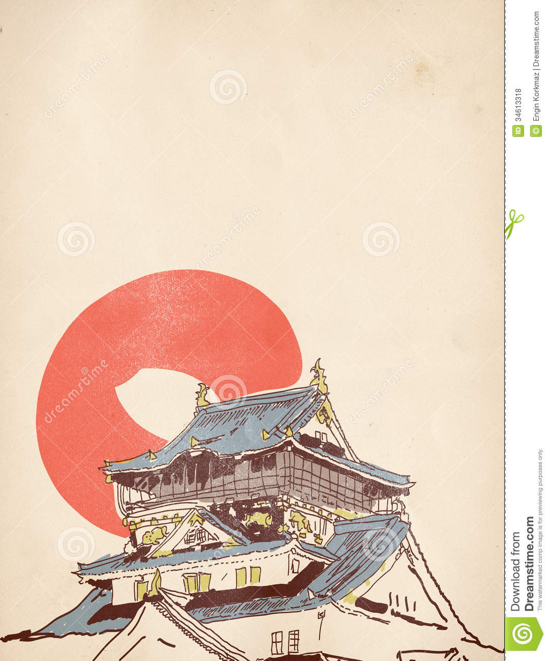 Traditional Japanese House Plans Dessin Japonais De Maison Photos Libres De Droits Image