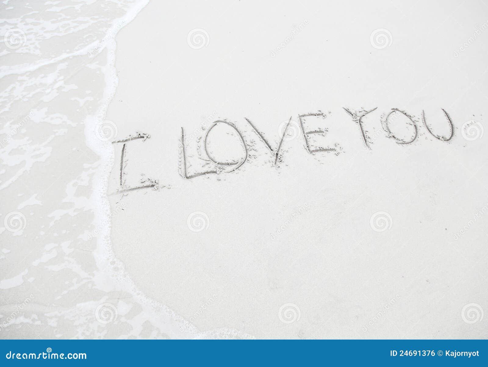 Dessin je t 39 aime sur la plage concept d 39 amour image - Dessin sur l amour ...