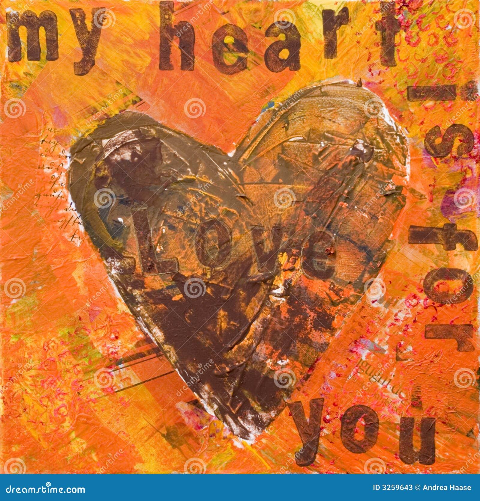 Dessin-modèle de coeur