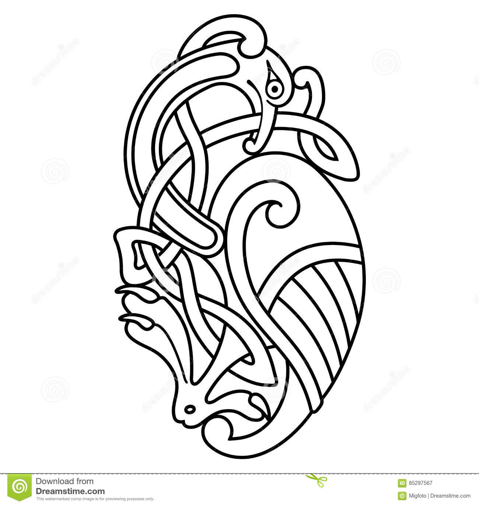 Dessin Celtique dessin national celtique illustration de vecteur. illustration du