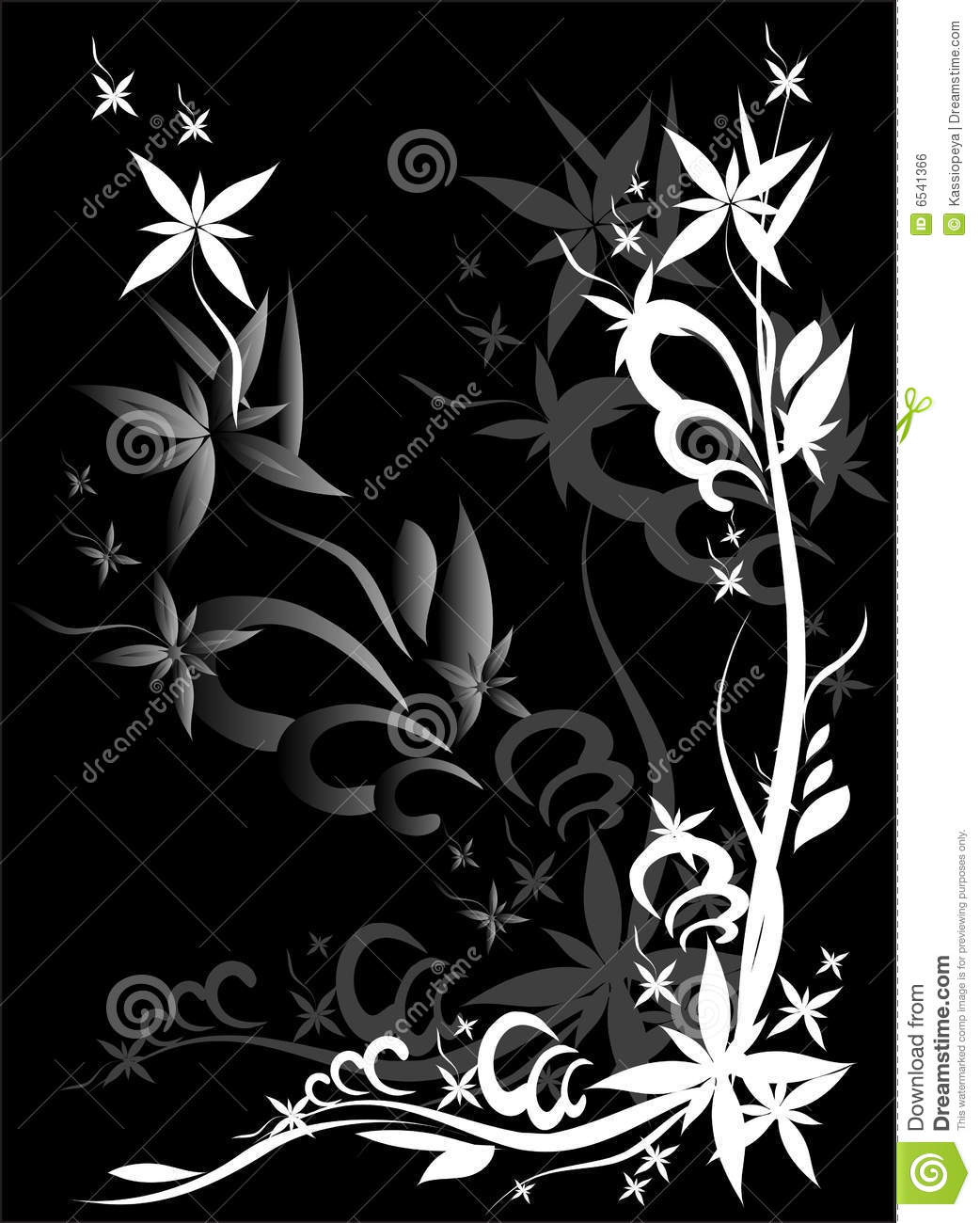 dessin noir de fleur image libre de droits image 6541366. Black Bedroom Furniture Sets. Home Design Ideas
