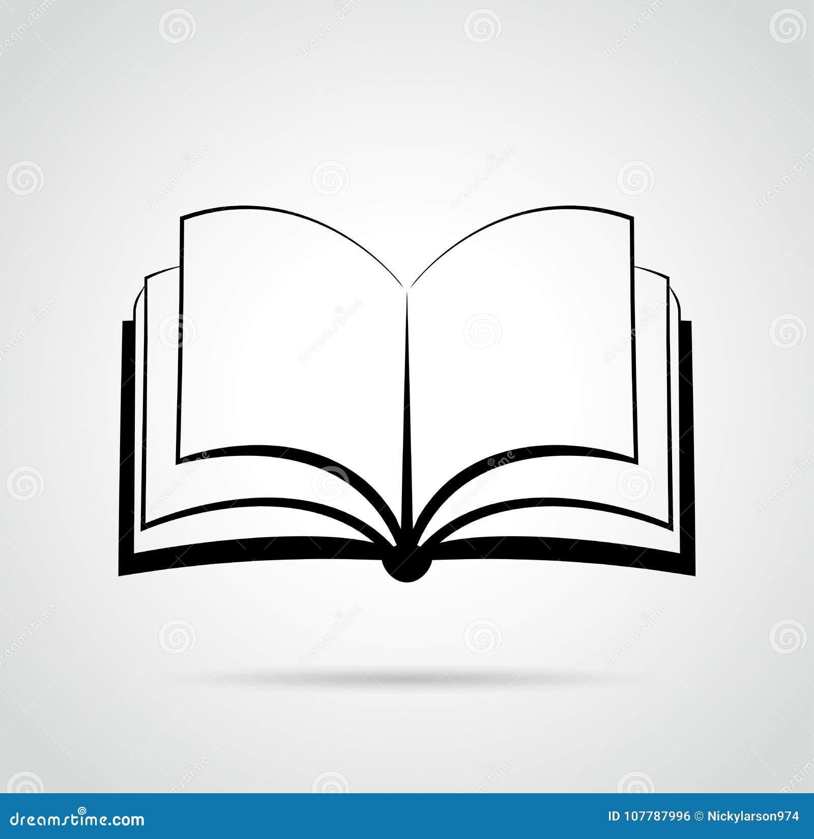 Dessin Ouvert De Noir De Conception De Livre Illustration De