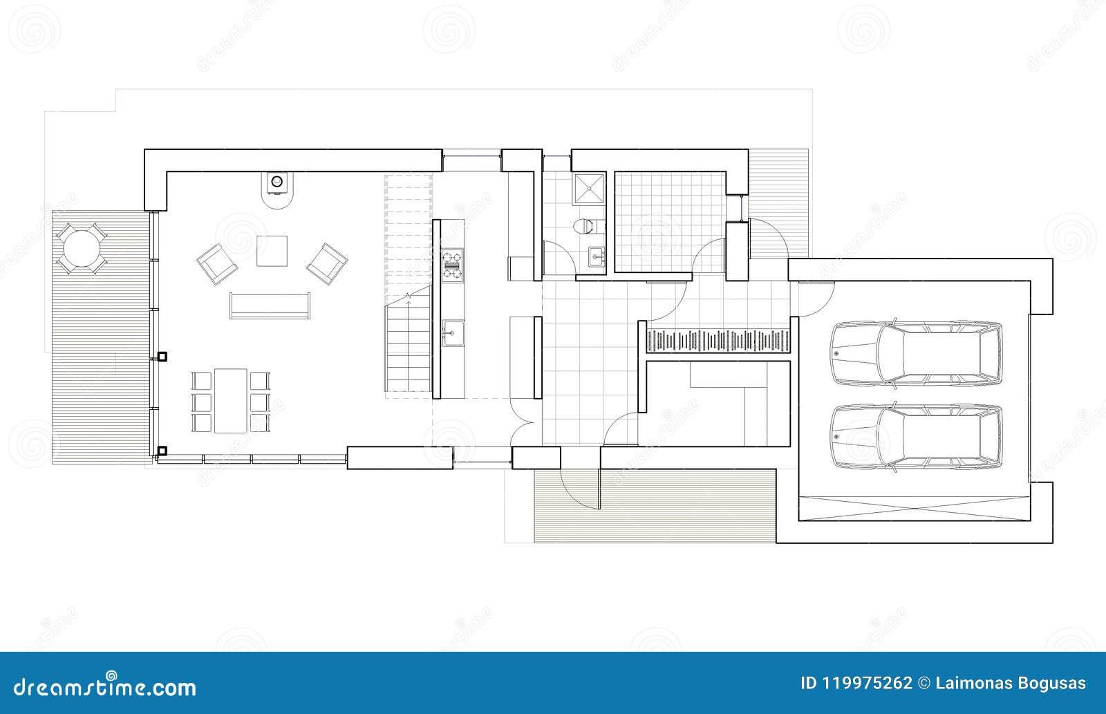 Plans De Maison Unifamiliale Avec Garage 2