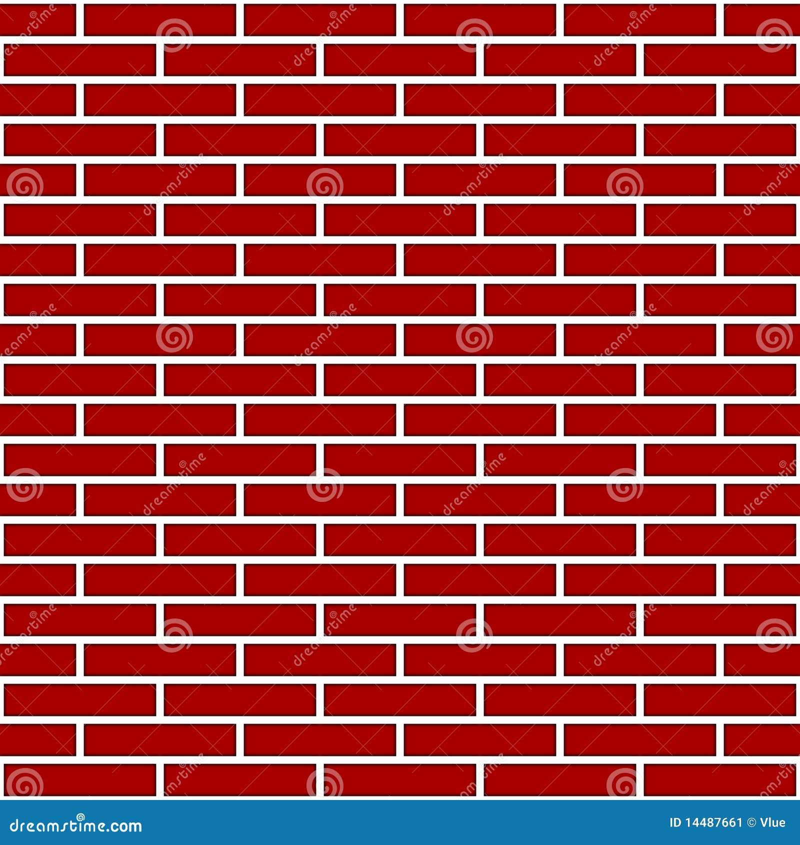 dessin rouge de mur de briques image stock image 14487661. Black Bedroom Furniture Sets. Home Design Ideas