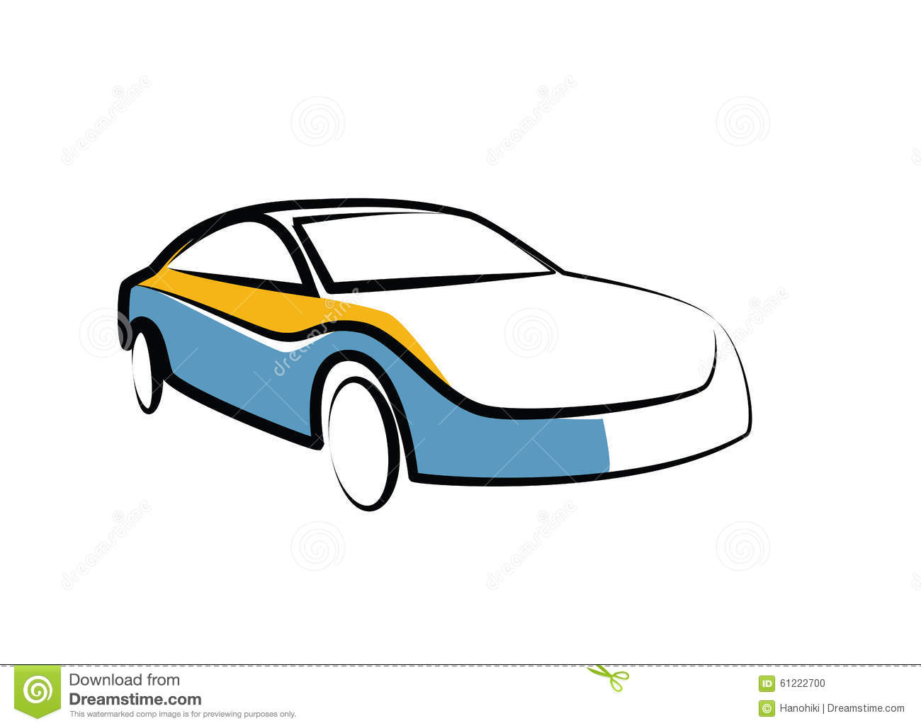 Dessin simple d 39 un croquis automatique automobile de - Dessin automobile ...