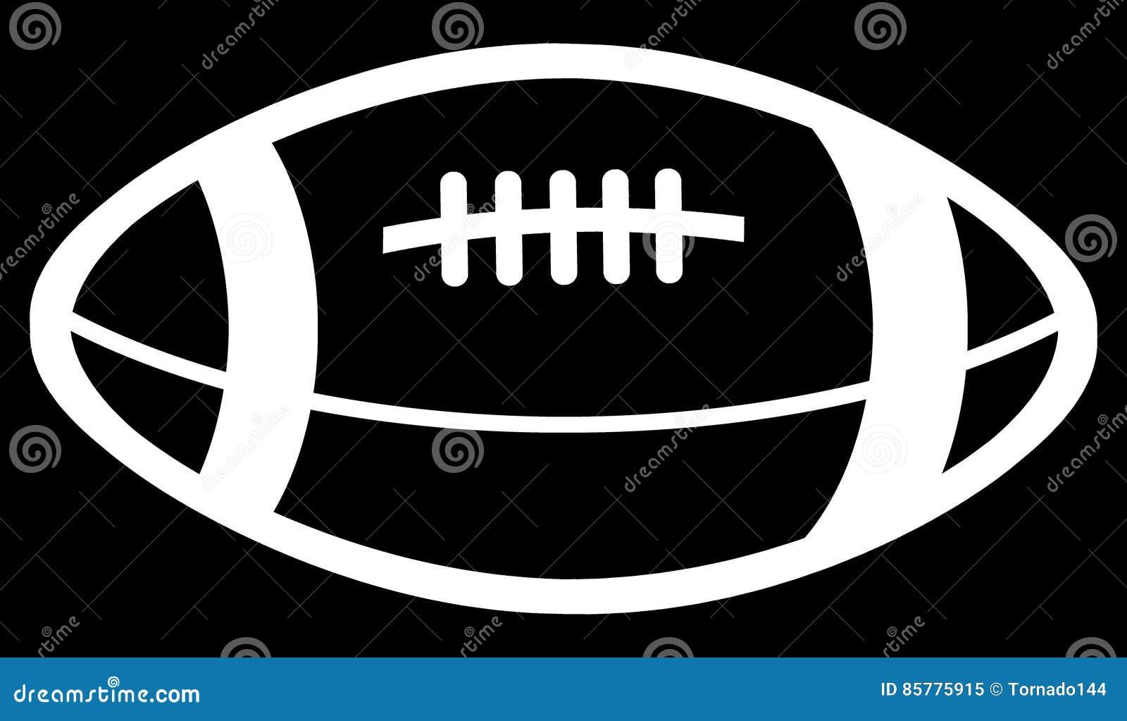Dessin simple d 39 une boule de football am ricain de couleur blanche illustration stock - Dessin football americain ...