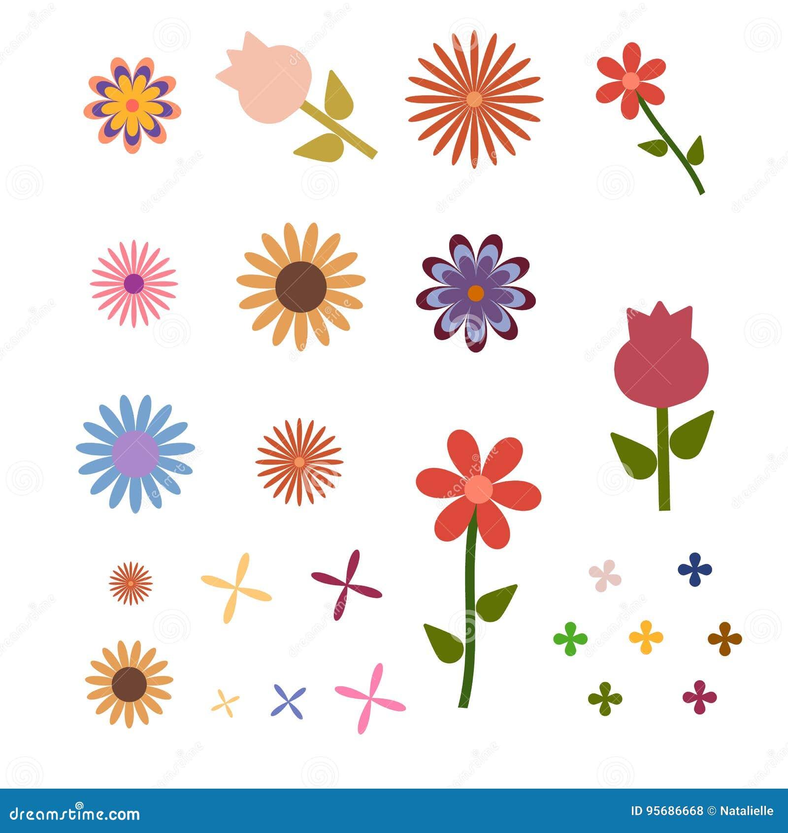 Dessin Simple De Fleurs Illustration De Vecteur Illustration Du
