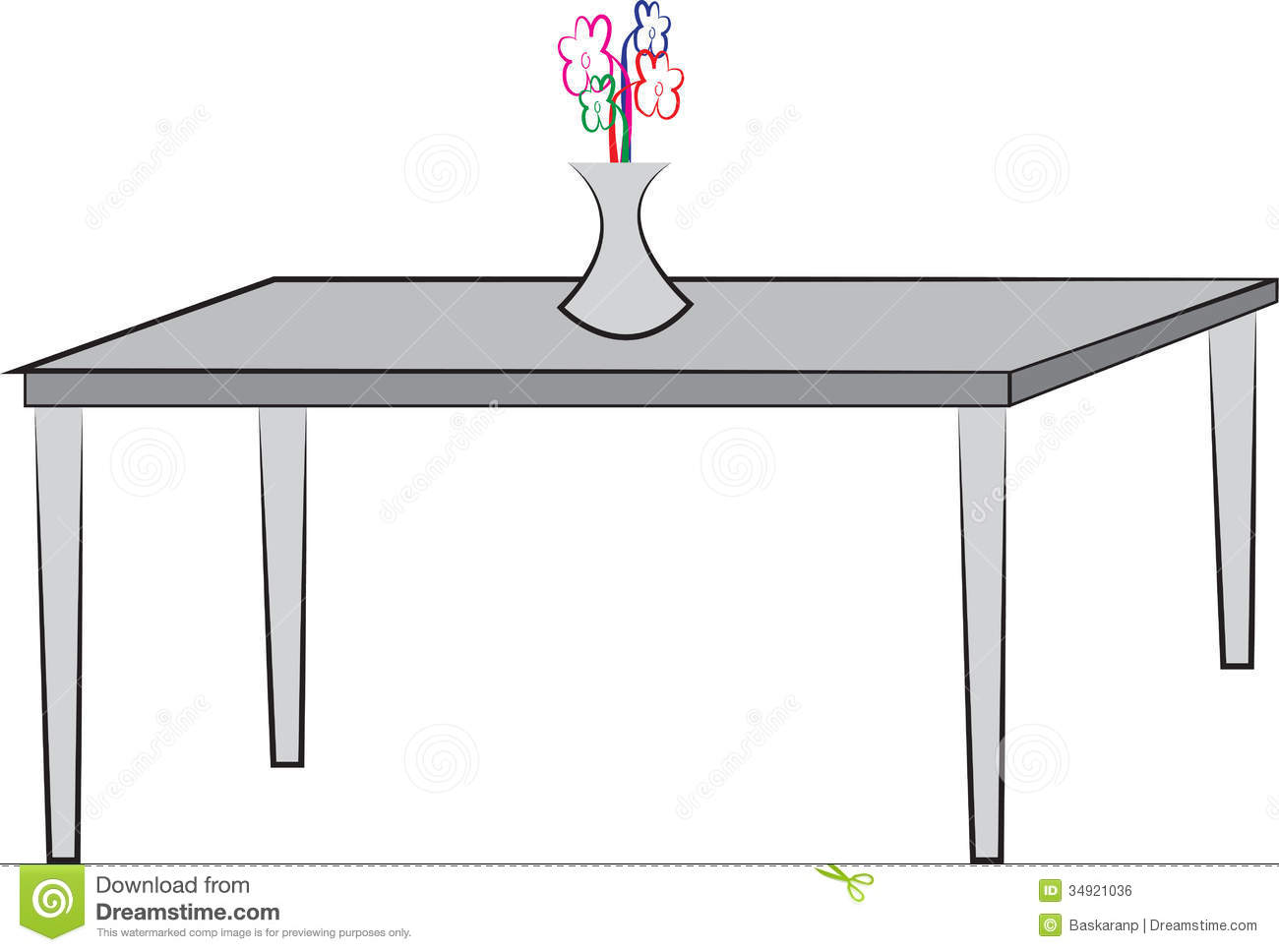 dessin simple de table image libre de droits image 34921036. Black Bedroom Furniture Sets. Home Design Ideas