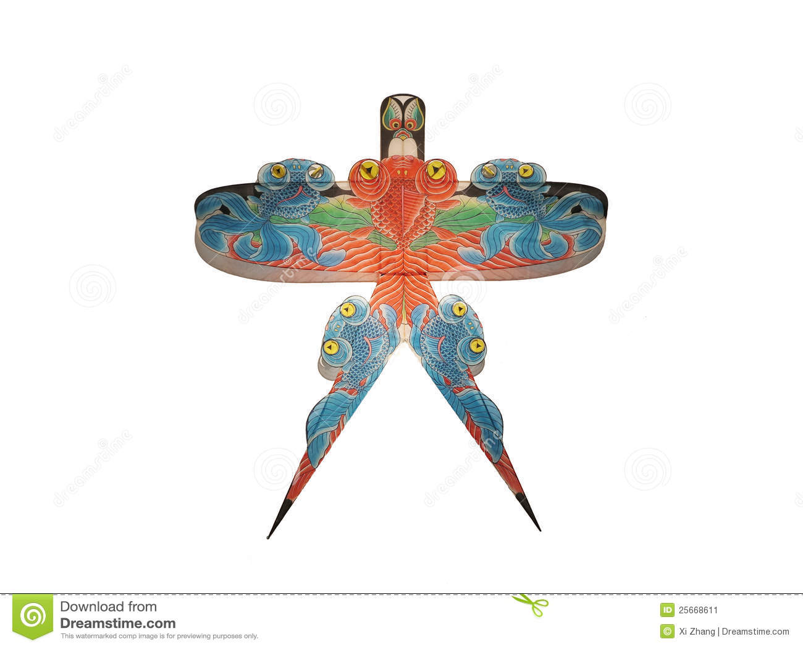 dessin sur le cerf volant traditionnel chinois image stock image 25668611. Black Bedroom Furniture Sets. Home Design Ideas