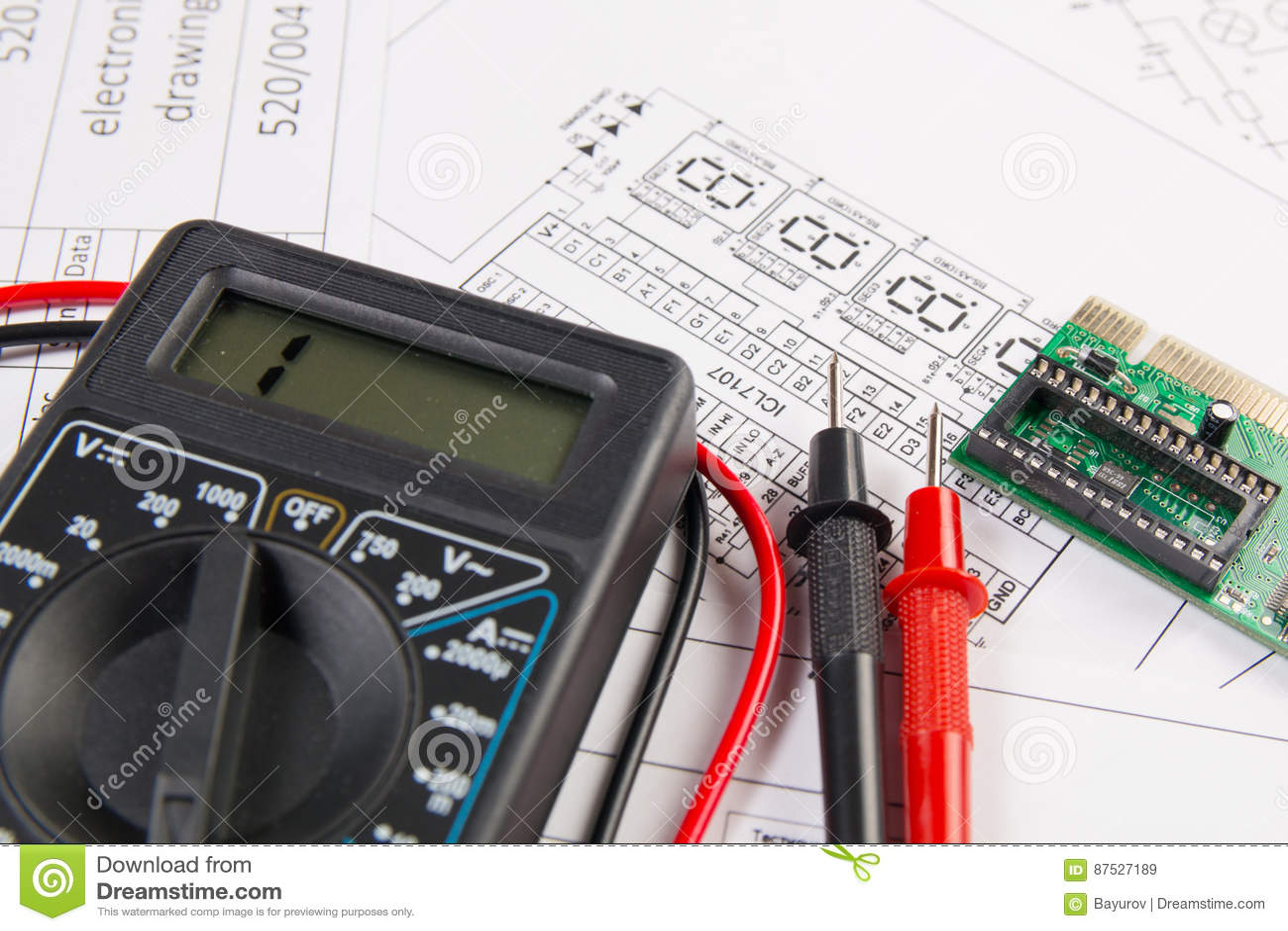 Dessins d électrotechnique, conseil électronique et la MU numérique