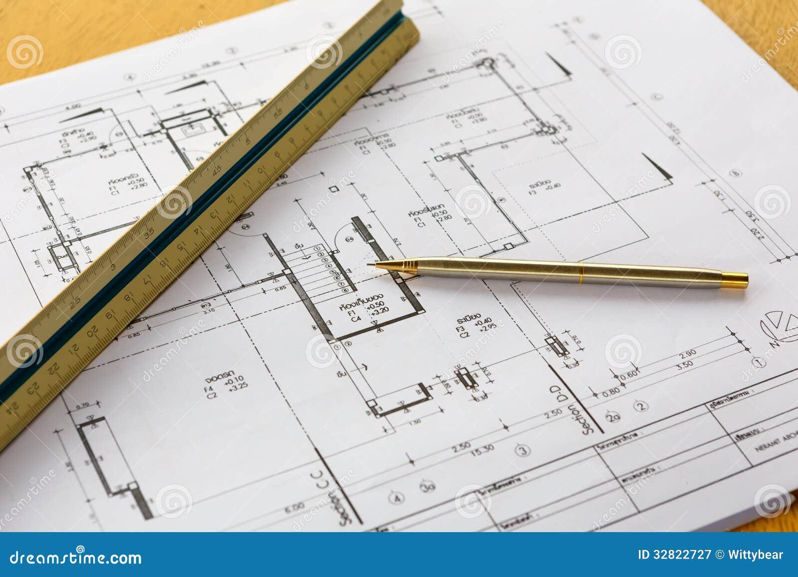Dessins d 39 architecture avec le crayon et la r gle for Dessins d architecture bricolage
