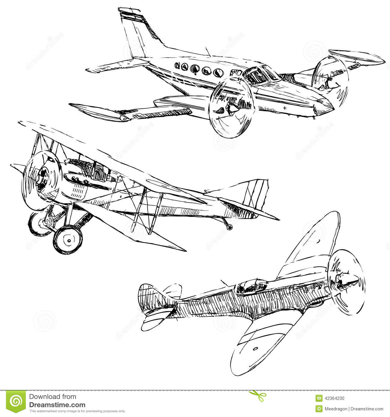 Dessins d 39 avions illustration de vecteur image 42364230 - Dessins avions ...