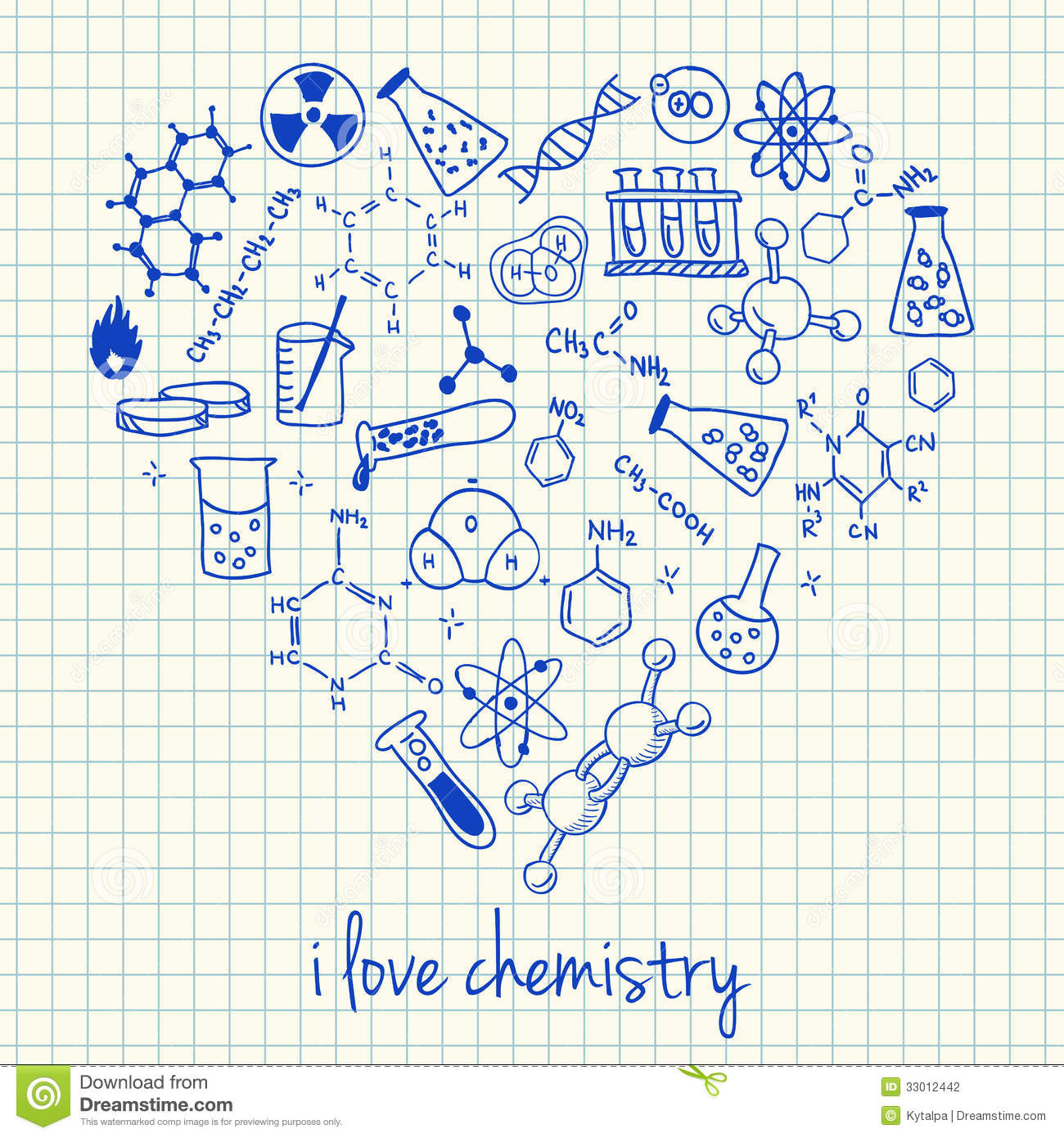dessin physique chimie