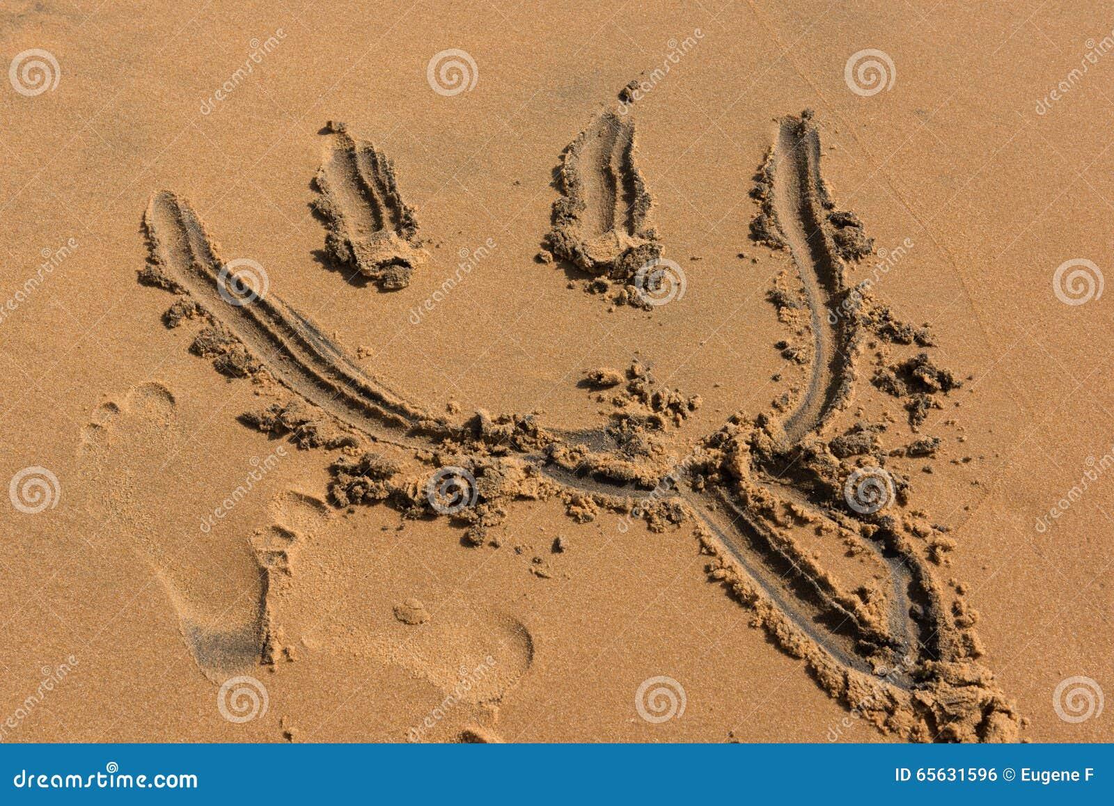 Dessins de sable sur la plage