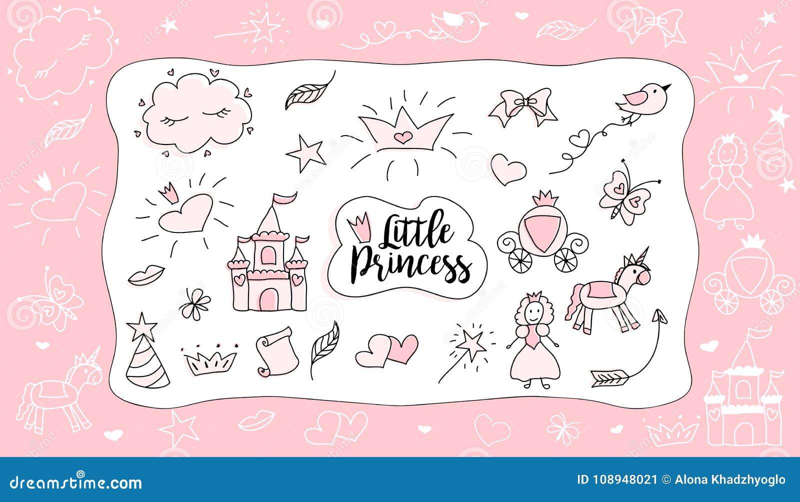 Dessins Du S D Enfants Petite Princesse Ensemble D