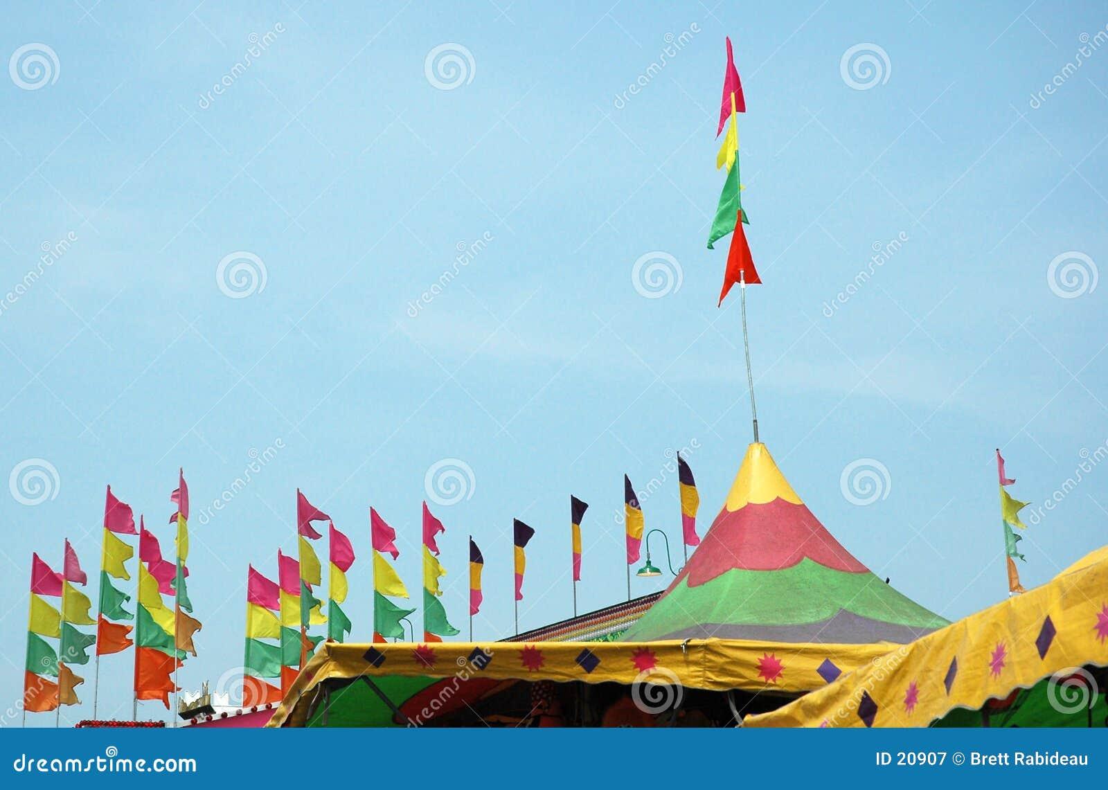 Dessus de tente de festival