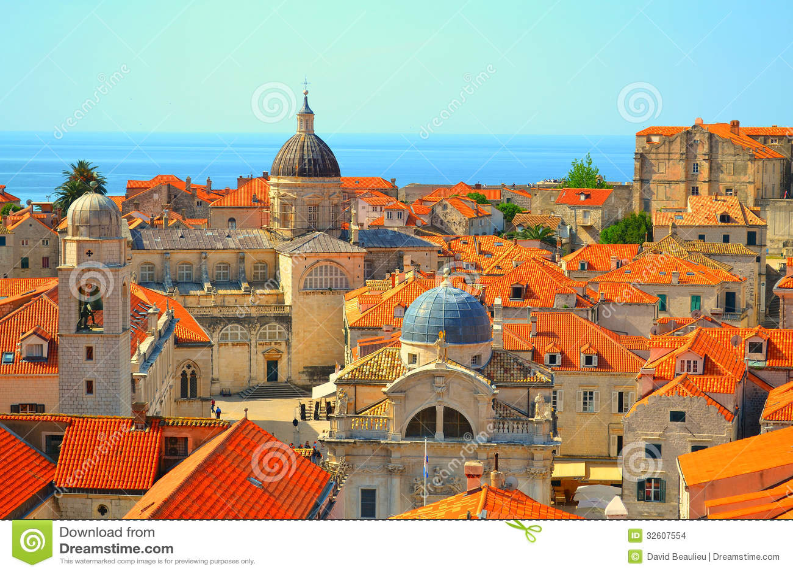 Dessus de toit dans Dubrovnik, Croatie