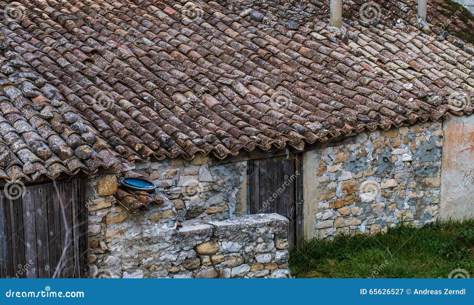 Dessus de toit de la hutte en pierre, Sicile, Italie