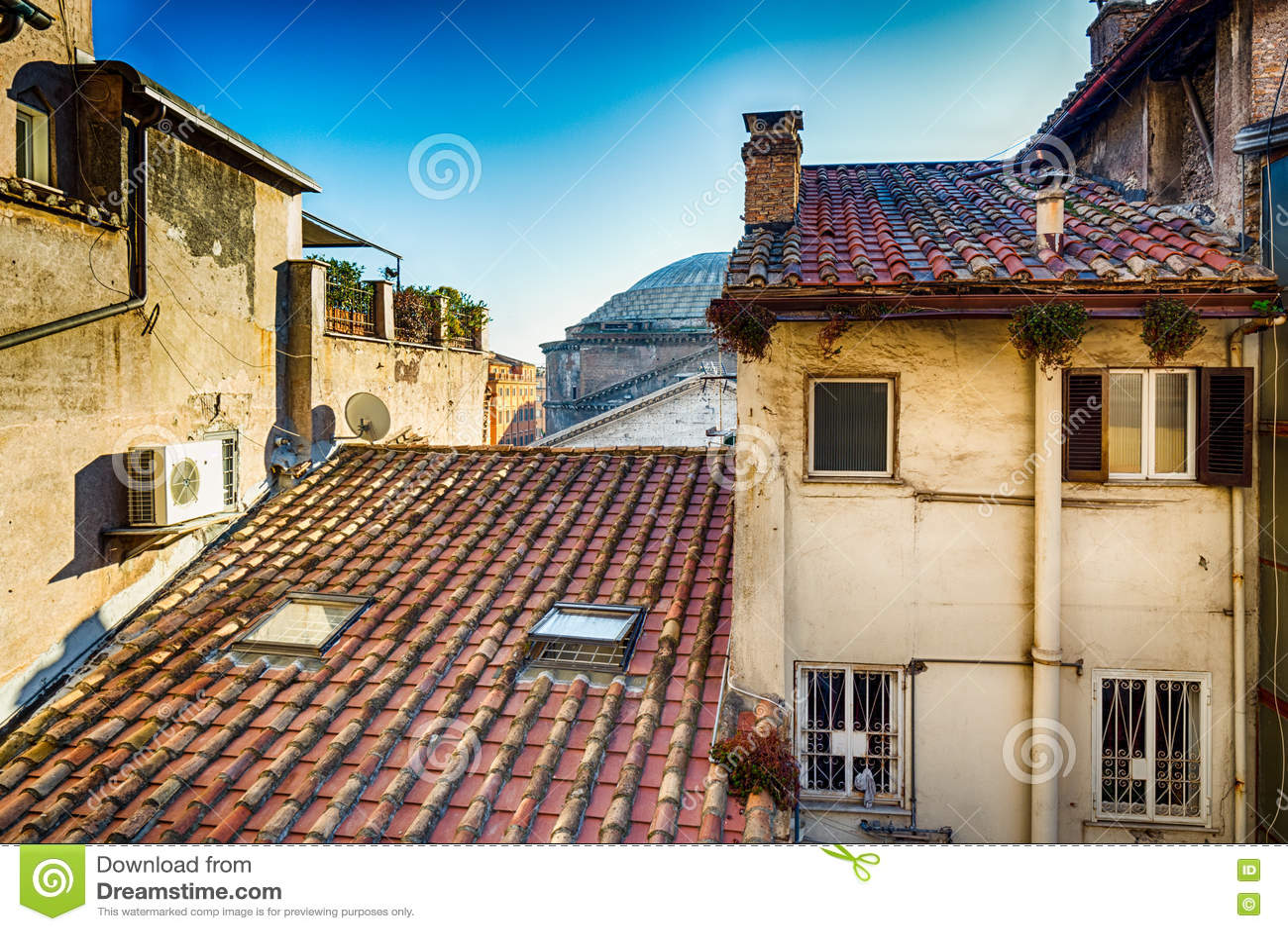 Dessus de toit de Rome