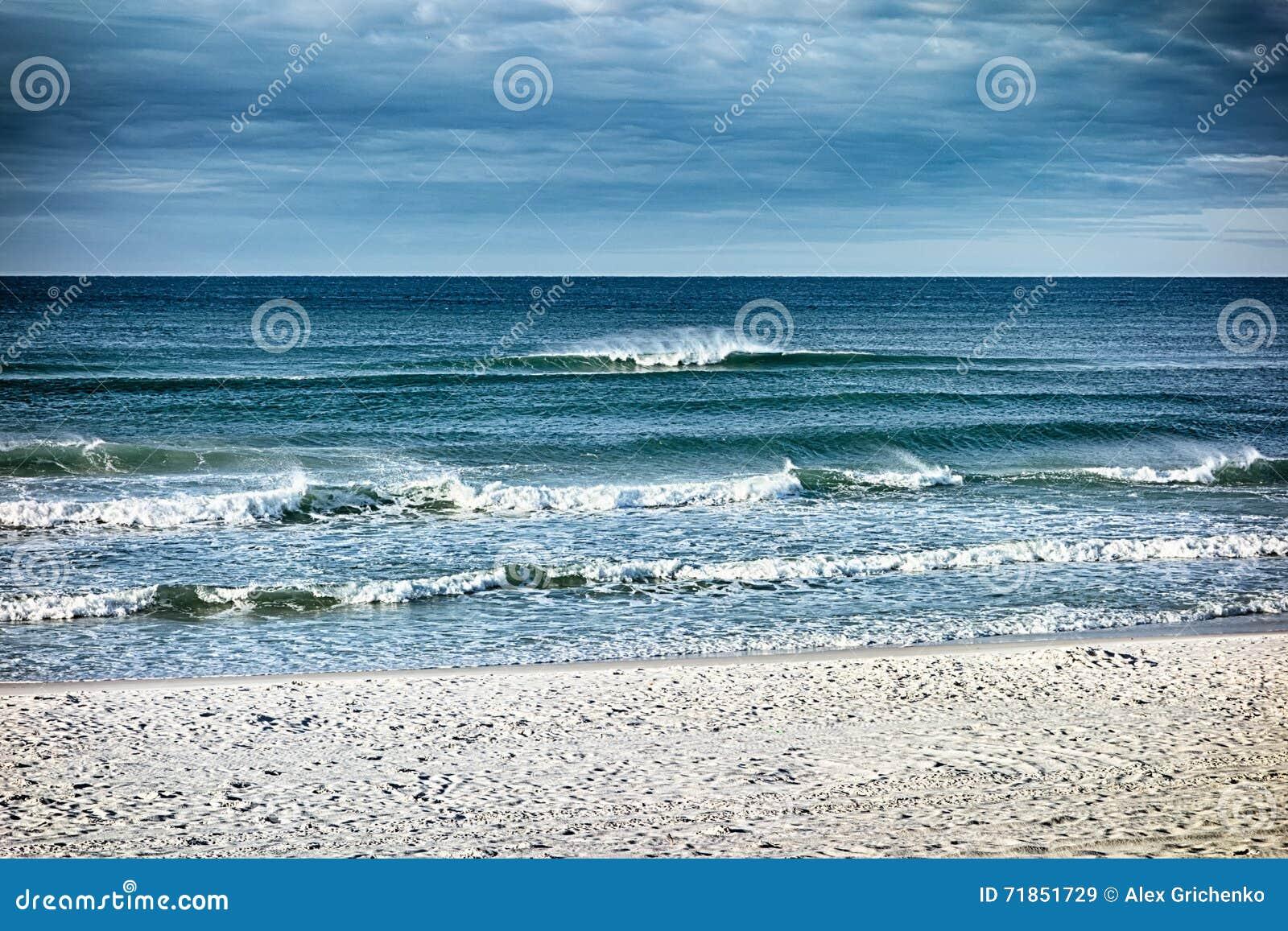 destin florida beach scenes stock image - image of nature, sunset