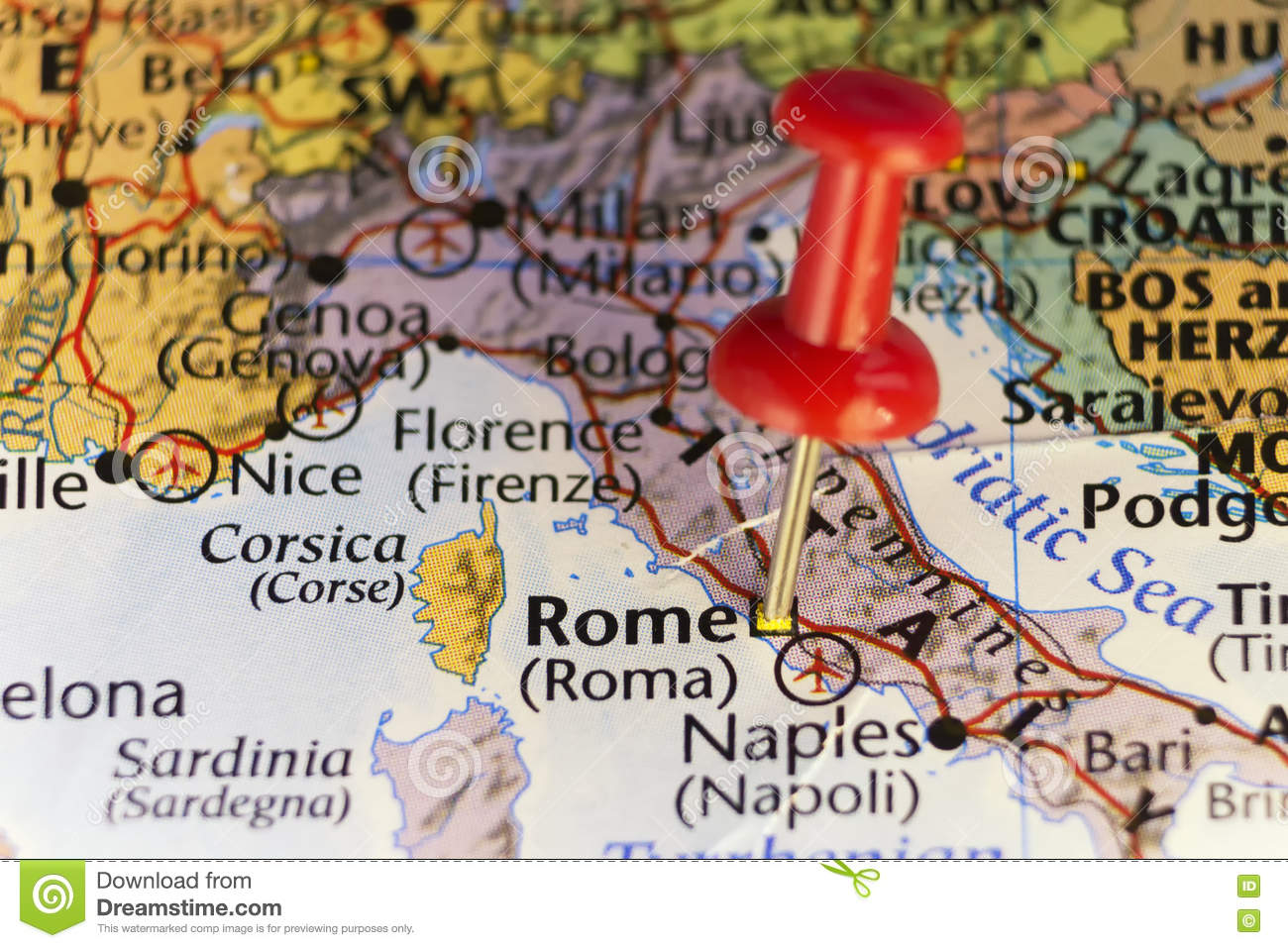 Download comp Destination Map Rome Italy Pinned
