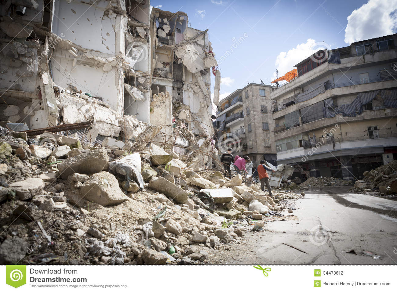 Destroyed building aleppo editorial photography image of for Builders in my area