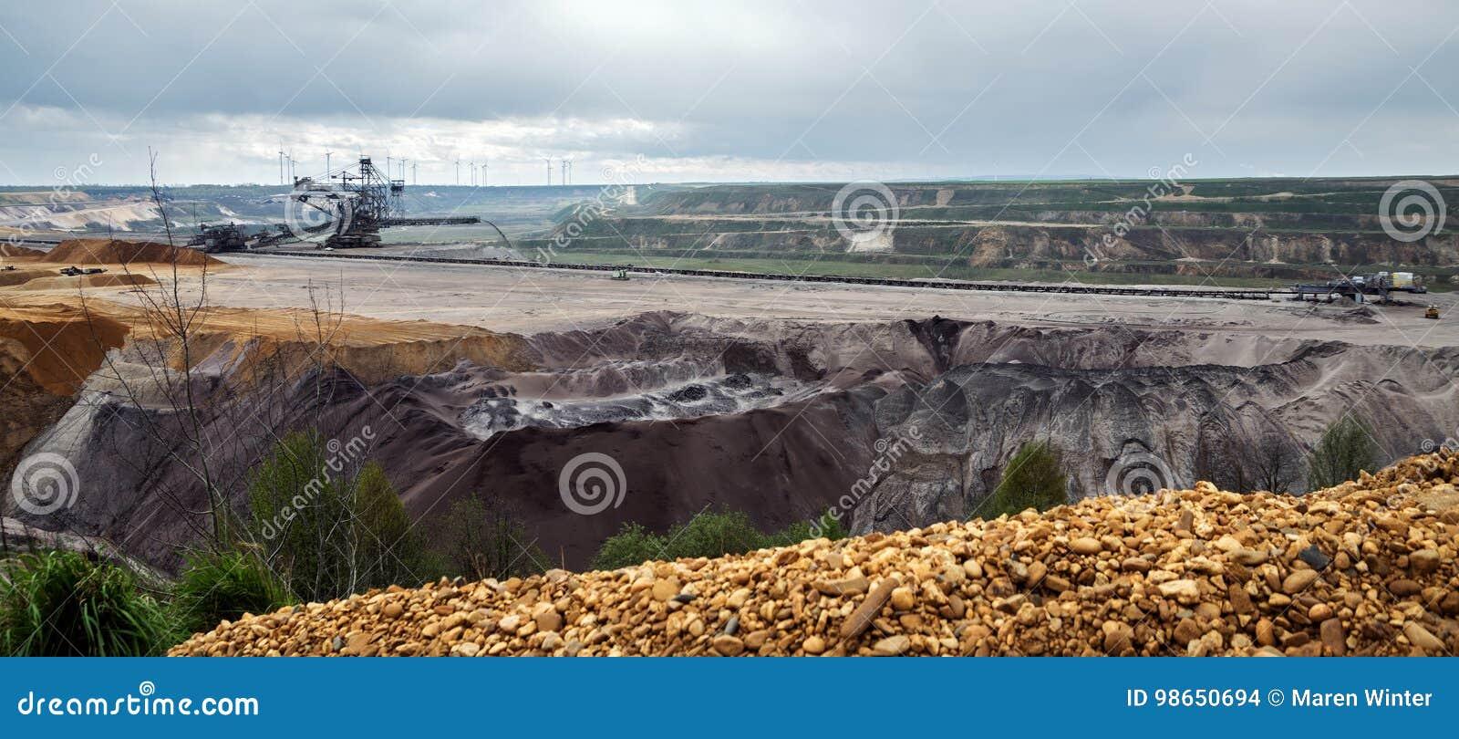 destroyed landscape in garzweiler opencast mining lignite surfa