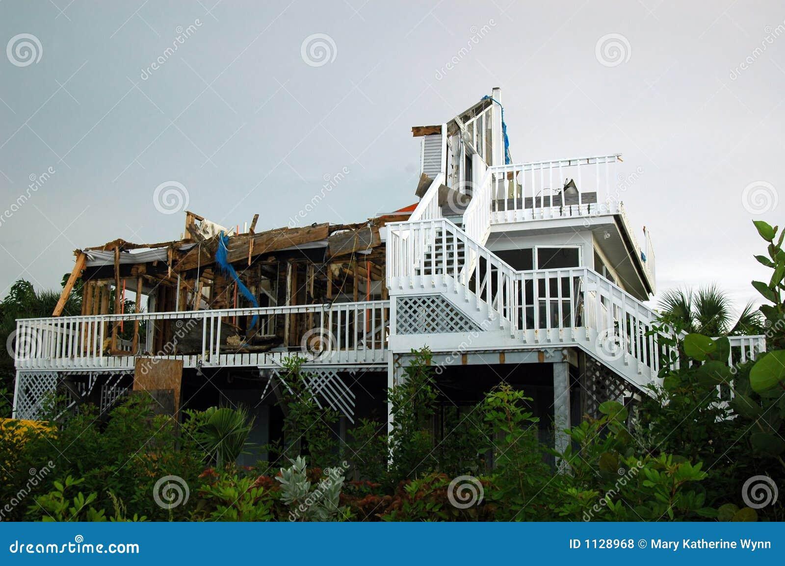 Destrucción del huracán