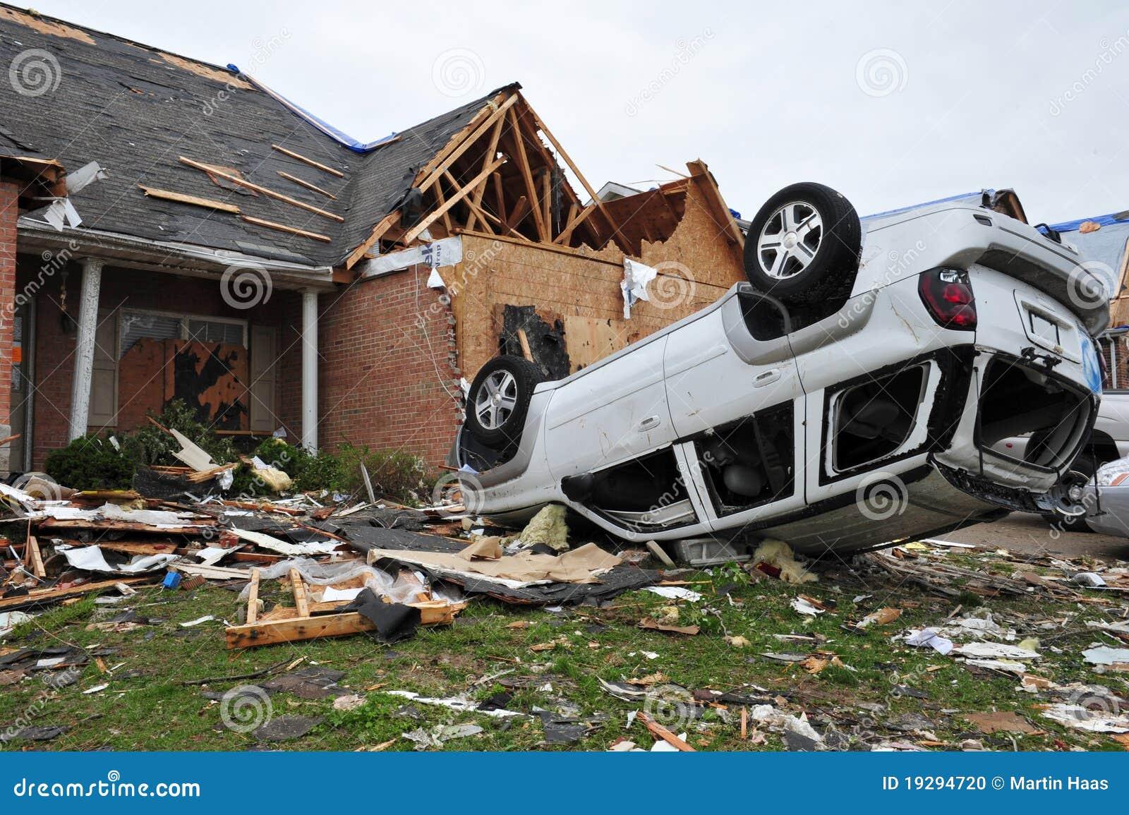 Destruction de tornade