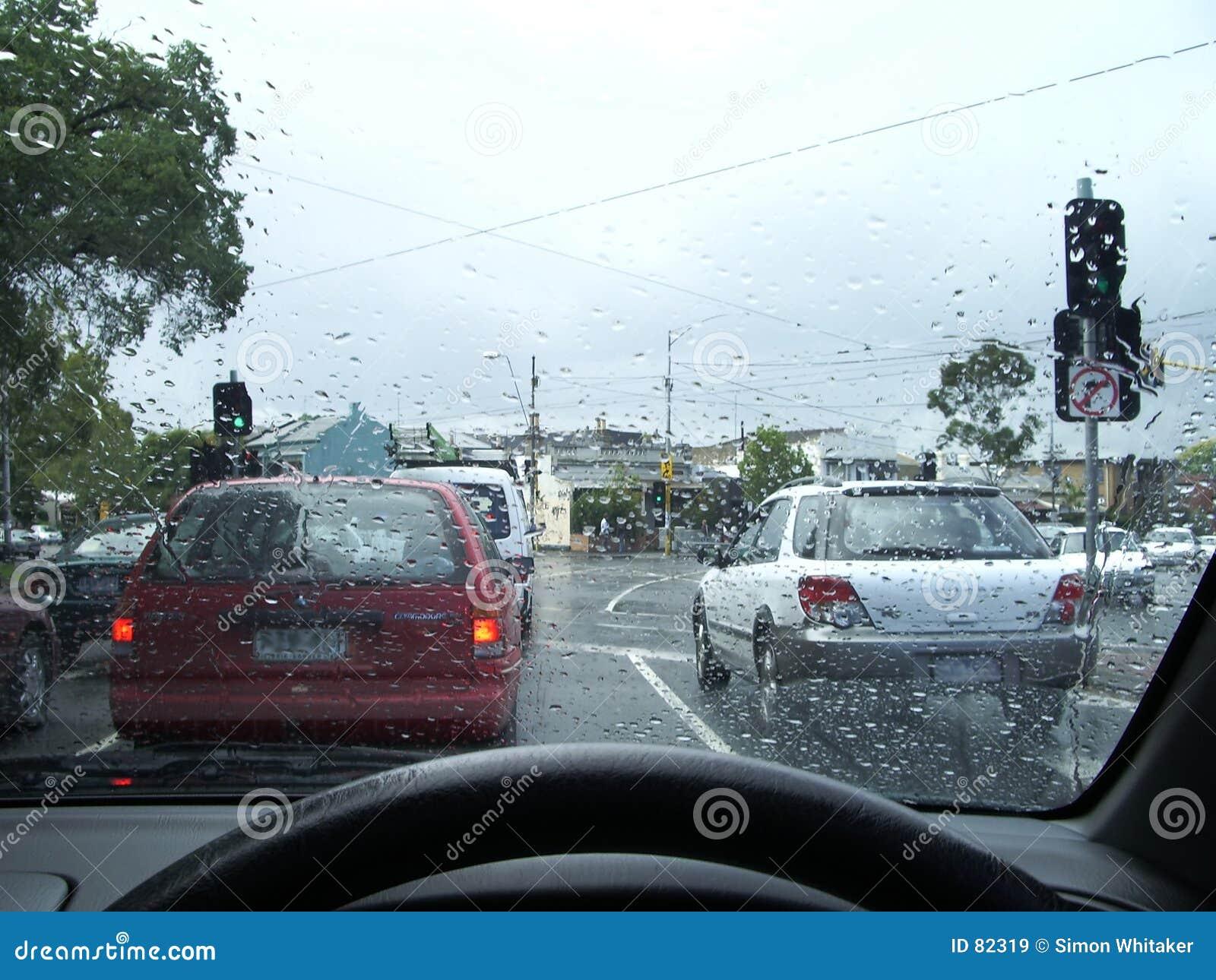 Deszcz jazdy