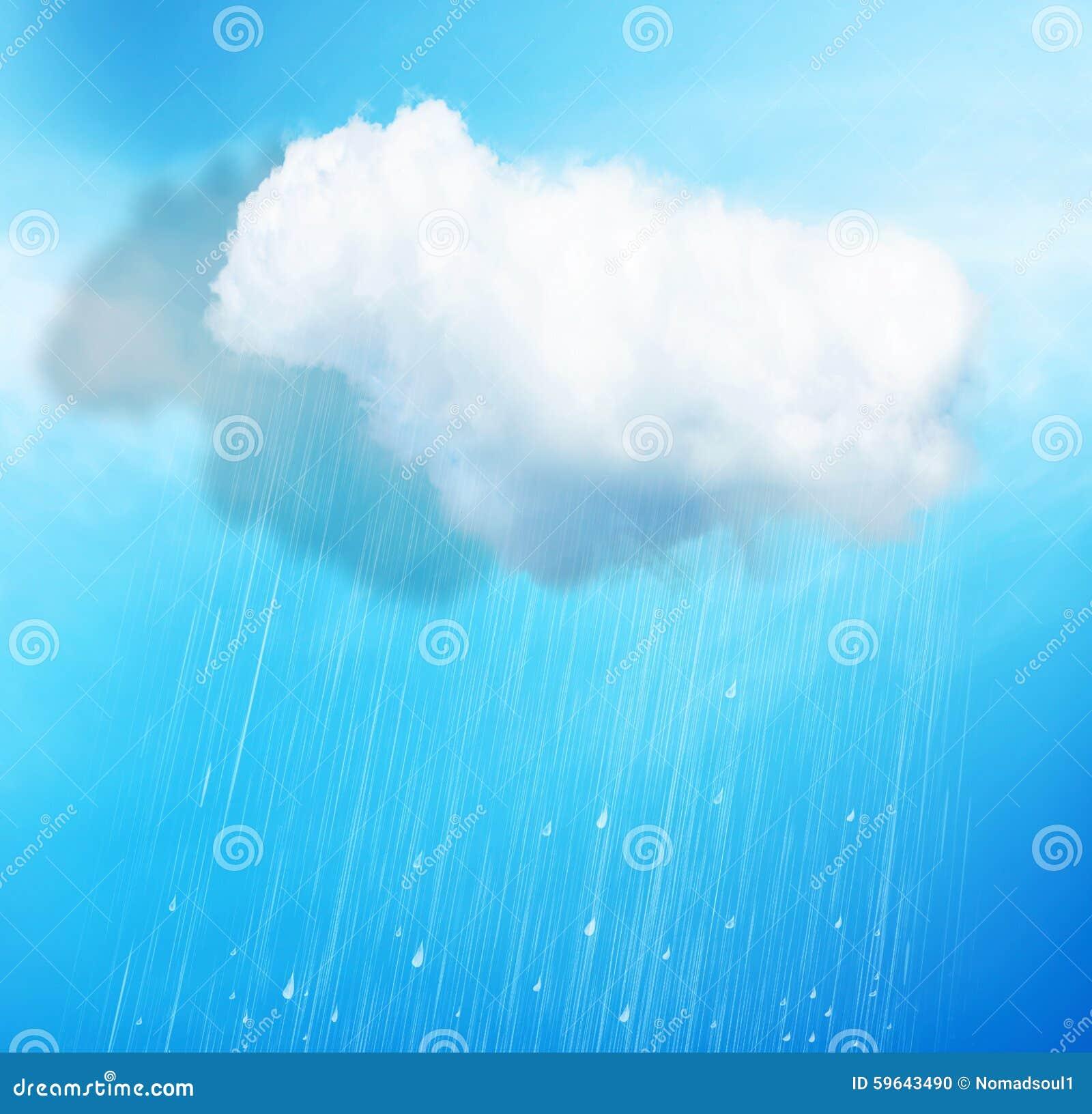 Deszcz nad błękitem