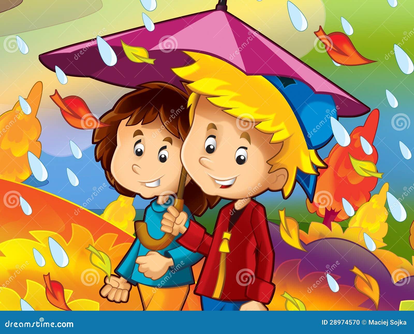 Deszczowy dzień w jesieni