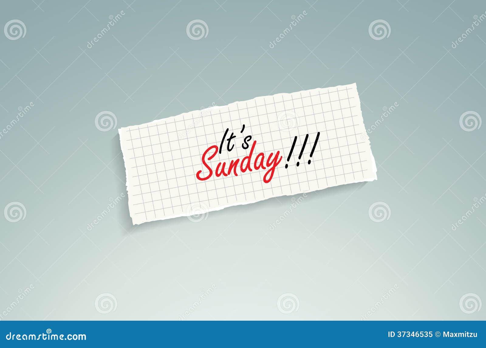 Det är söndag!