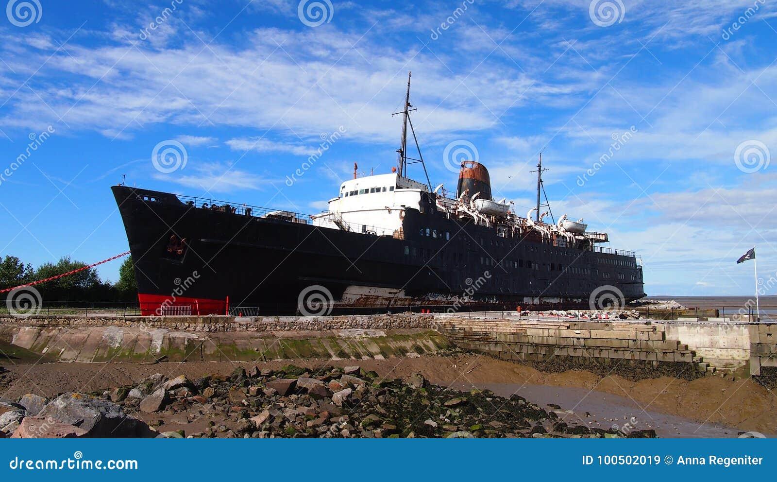 Det övergav skeppet hertigen av det Lancaster skeppet, norr Wales