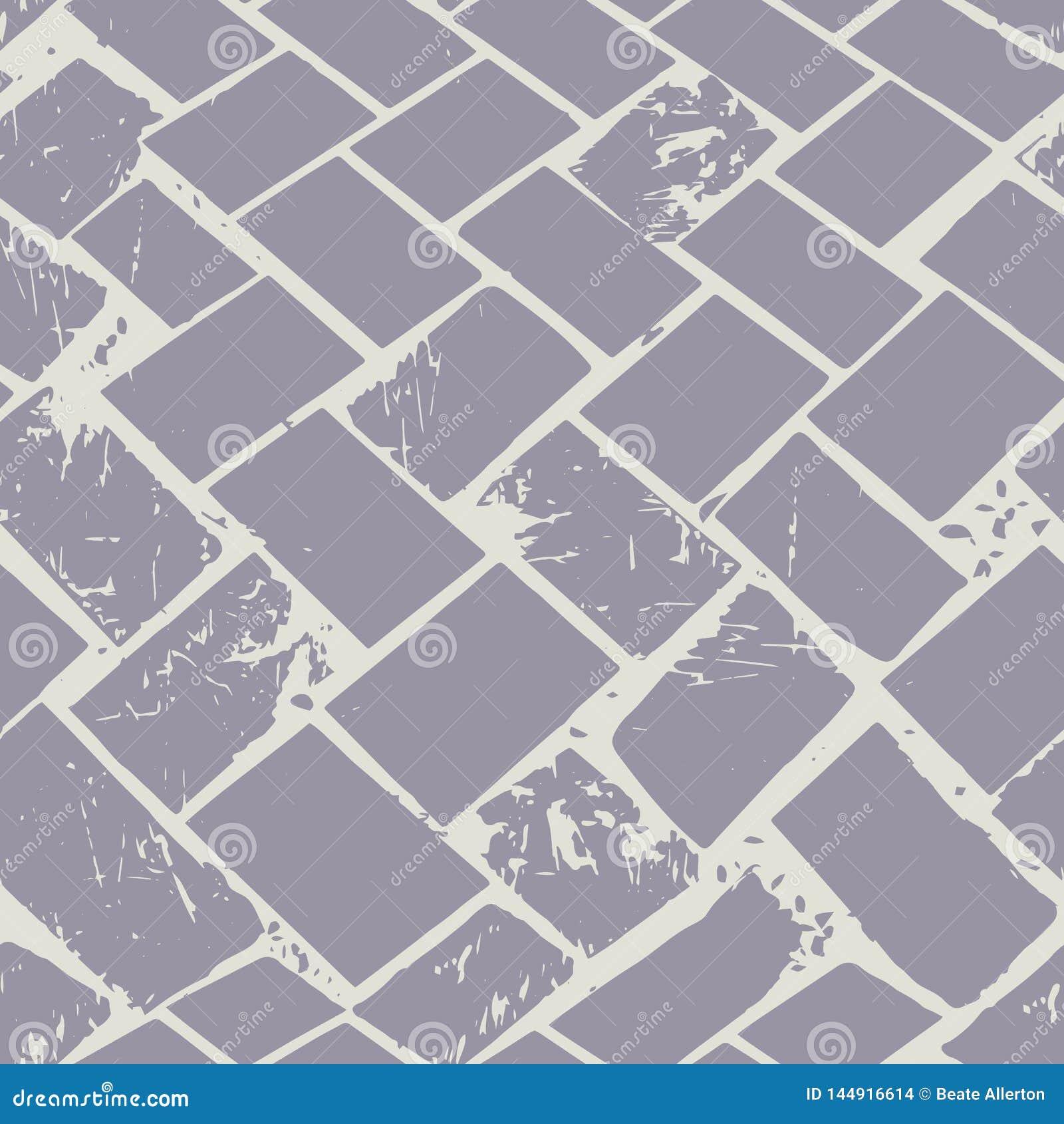 Det abstrakta terrazzogolvet väver pastellfärgad grungestentextur Sömlös vektormodell på grå bakgrund med stads- vibe