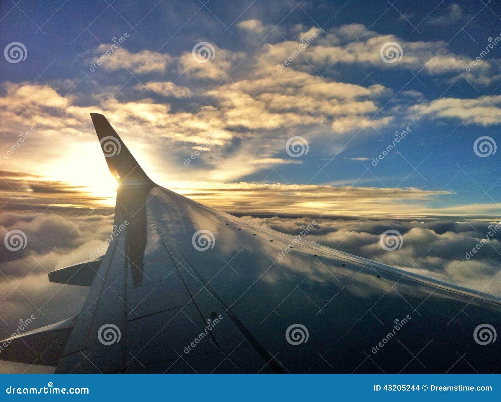 Download Det airplan på himlen arkivfoto. Bild av guld, oklarhet - 43205244