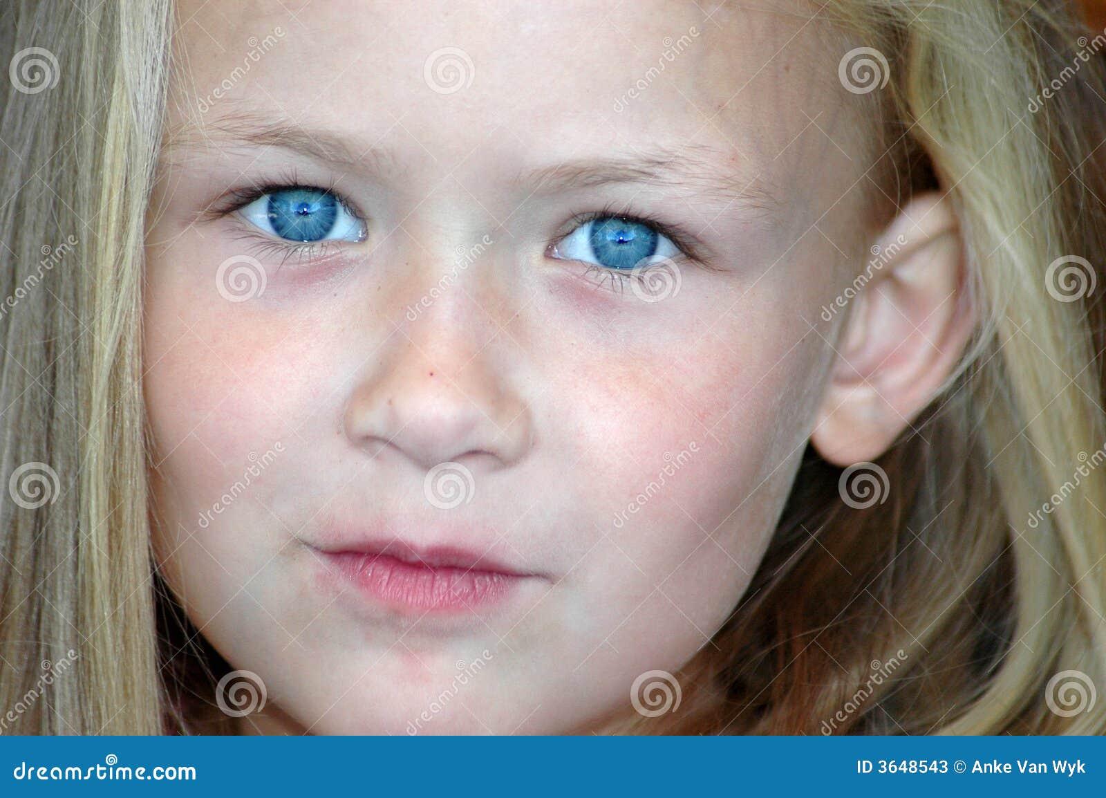 Det blåa barnet eyes s