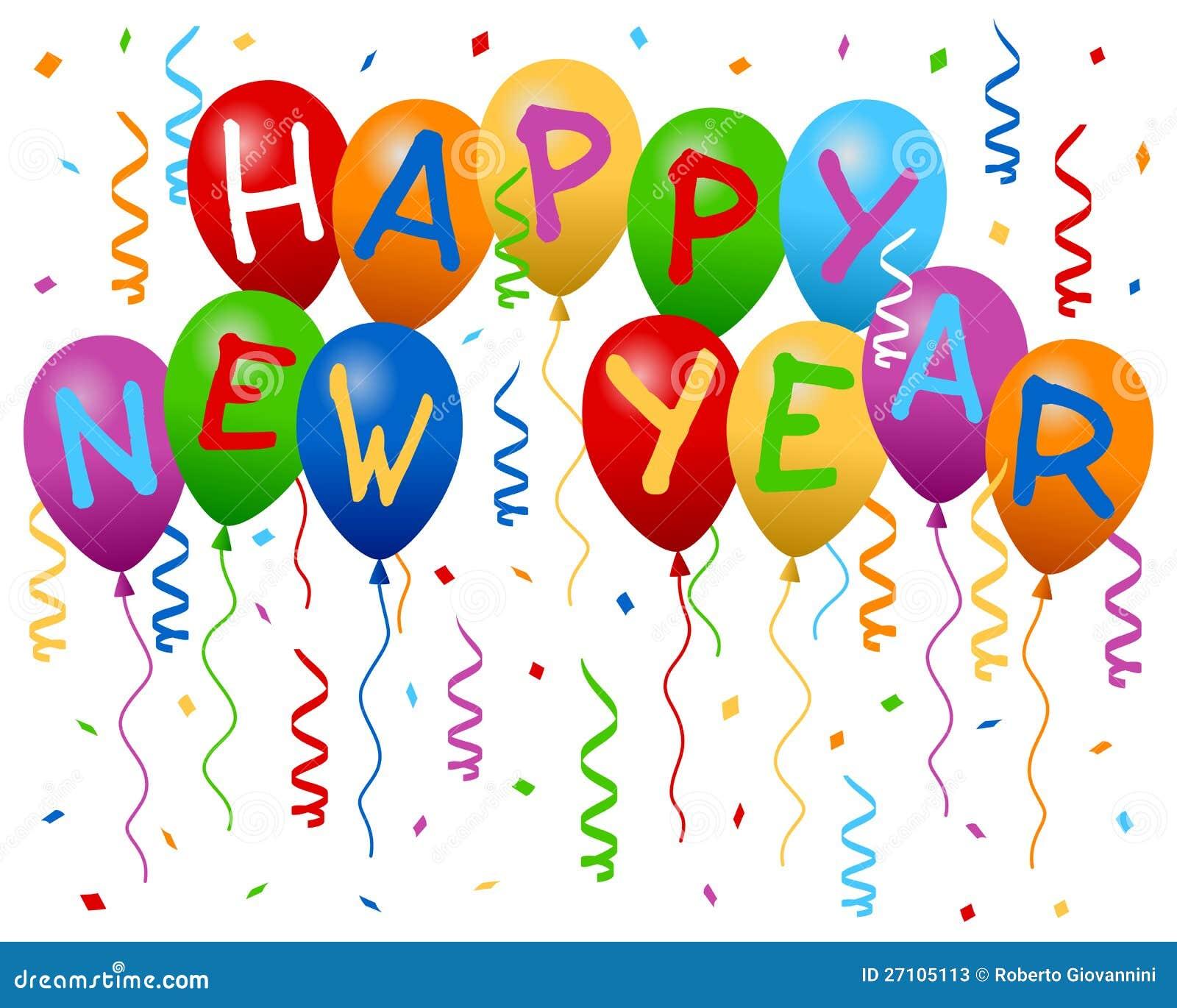 Det lyckliga nya året sväller banret