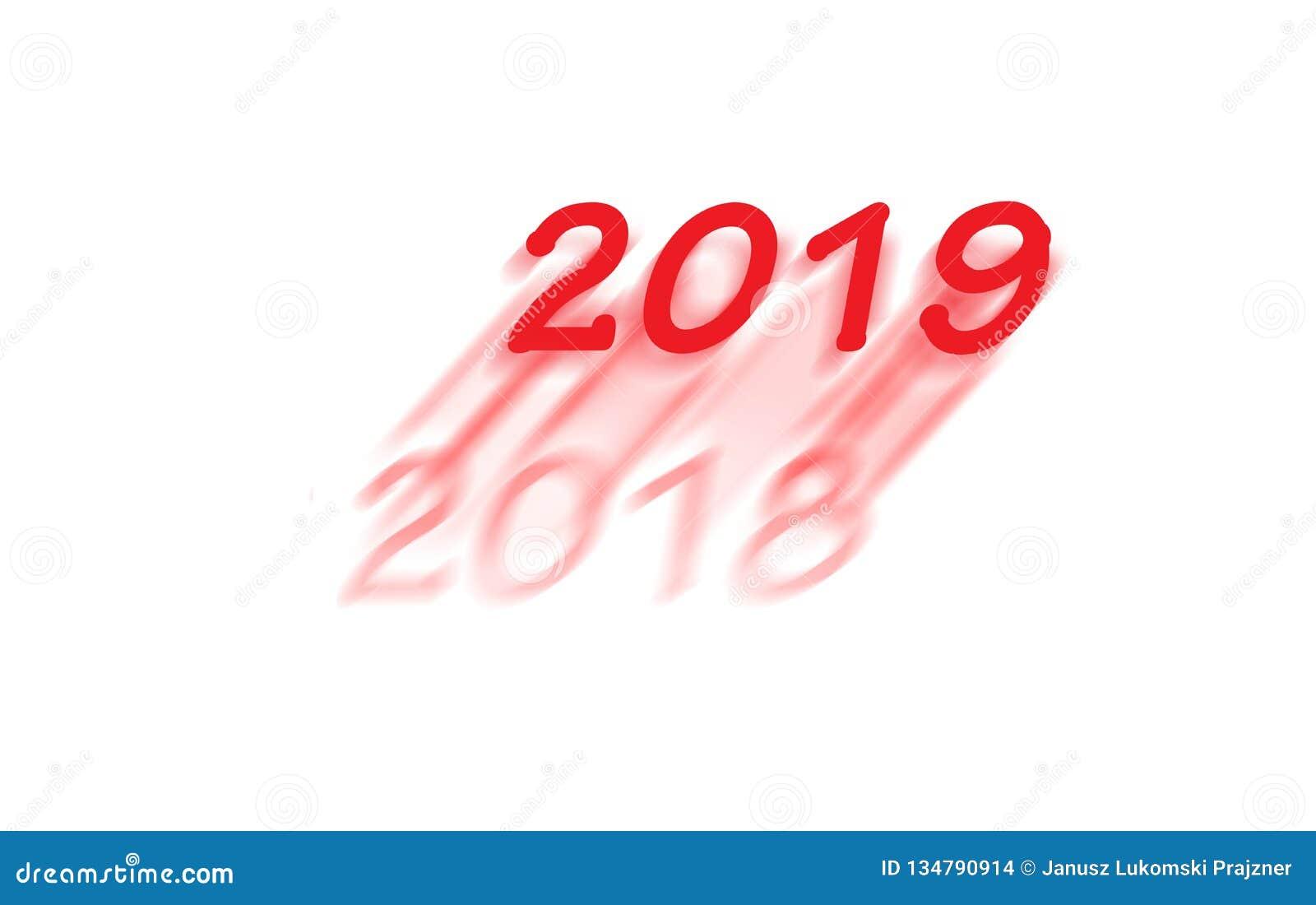 Det nya året 2019 är kommande